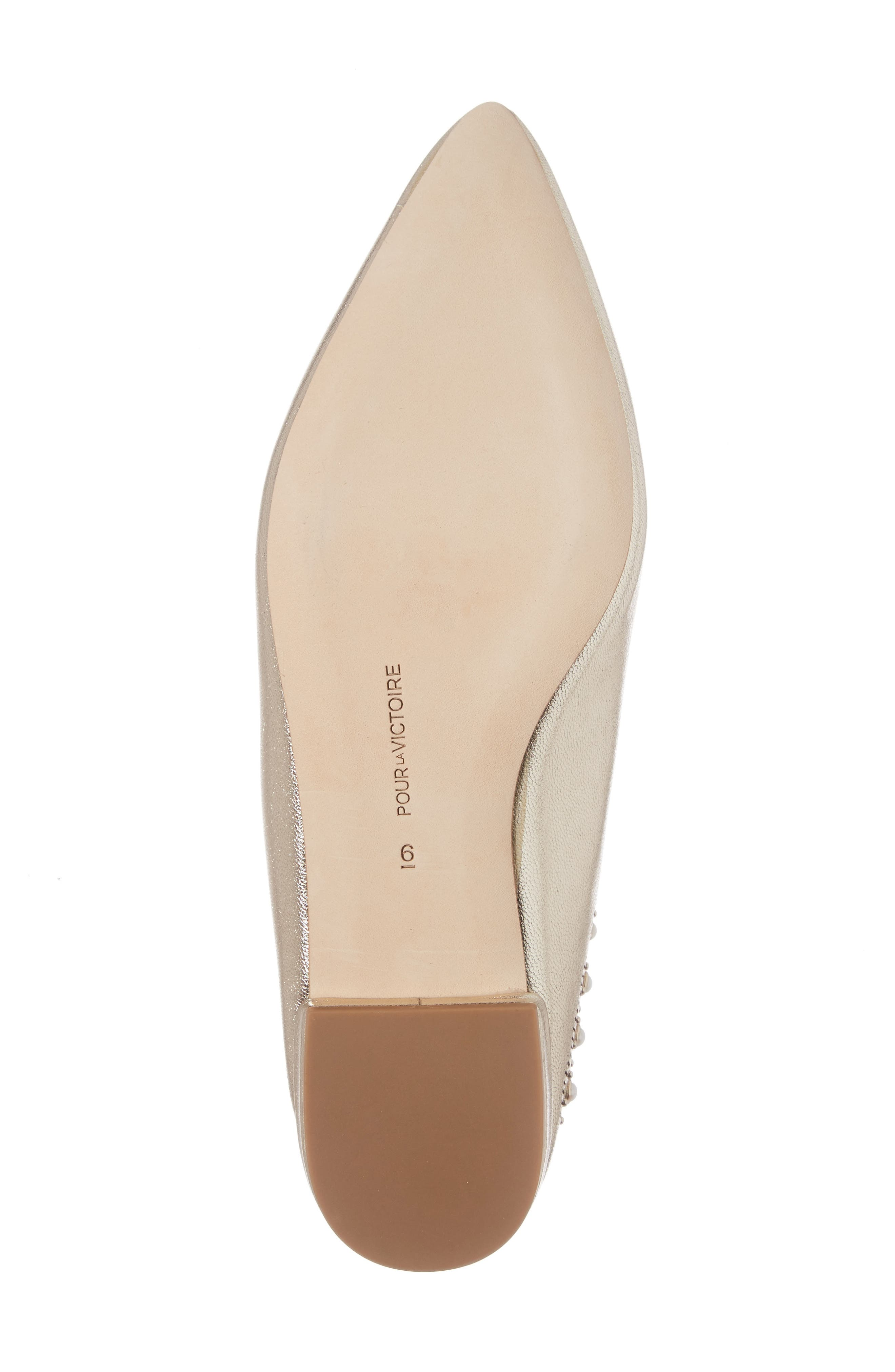 Giselle Mule,                             Alternate thumbnail 6, color,                             Champagne Leather