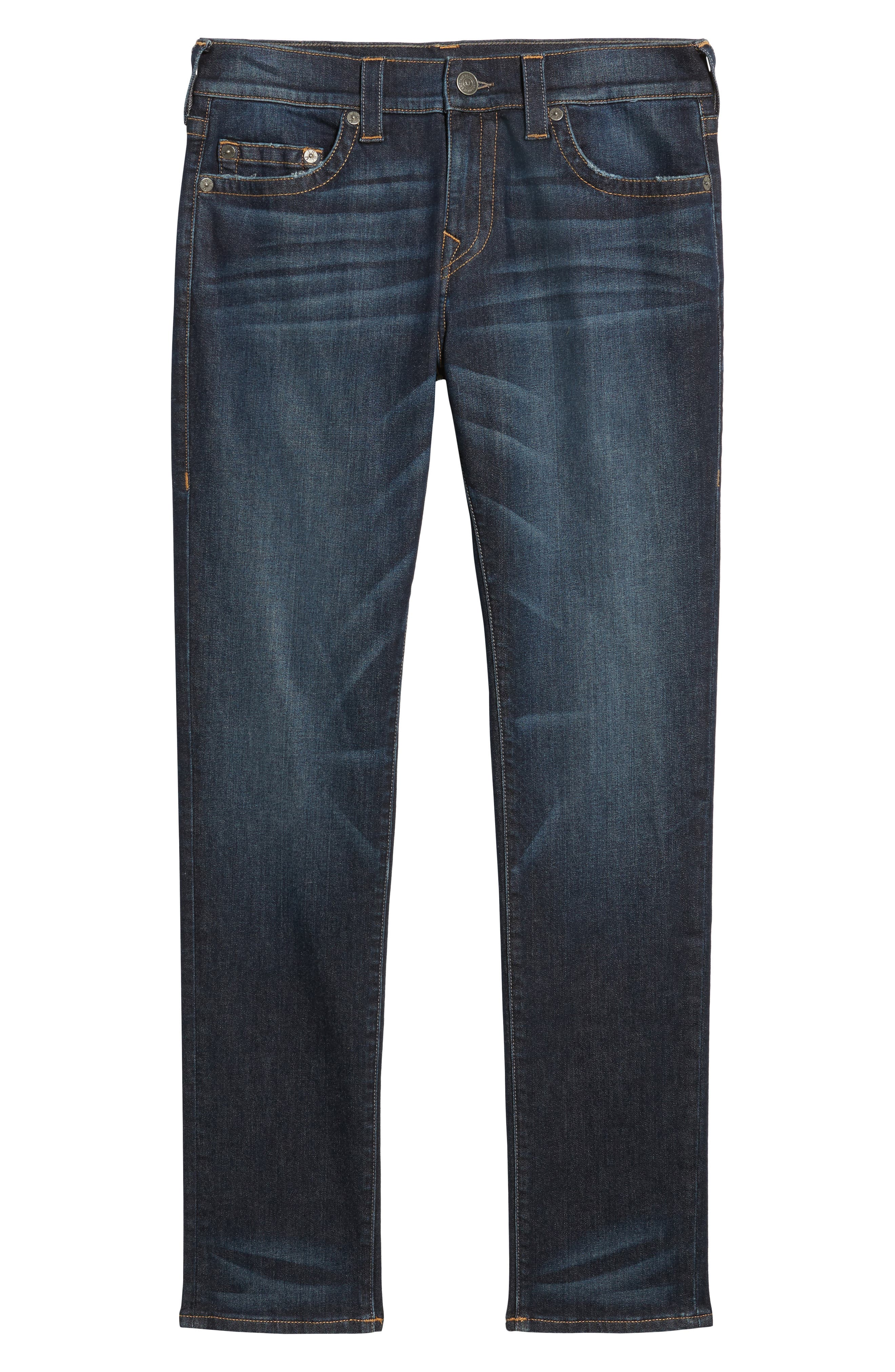 Rocco Skinny Fit Jeans,                             Alternate thumbnail 6, color,                             Dark Indigo Luxe