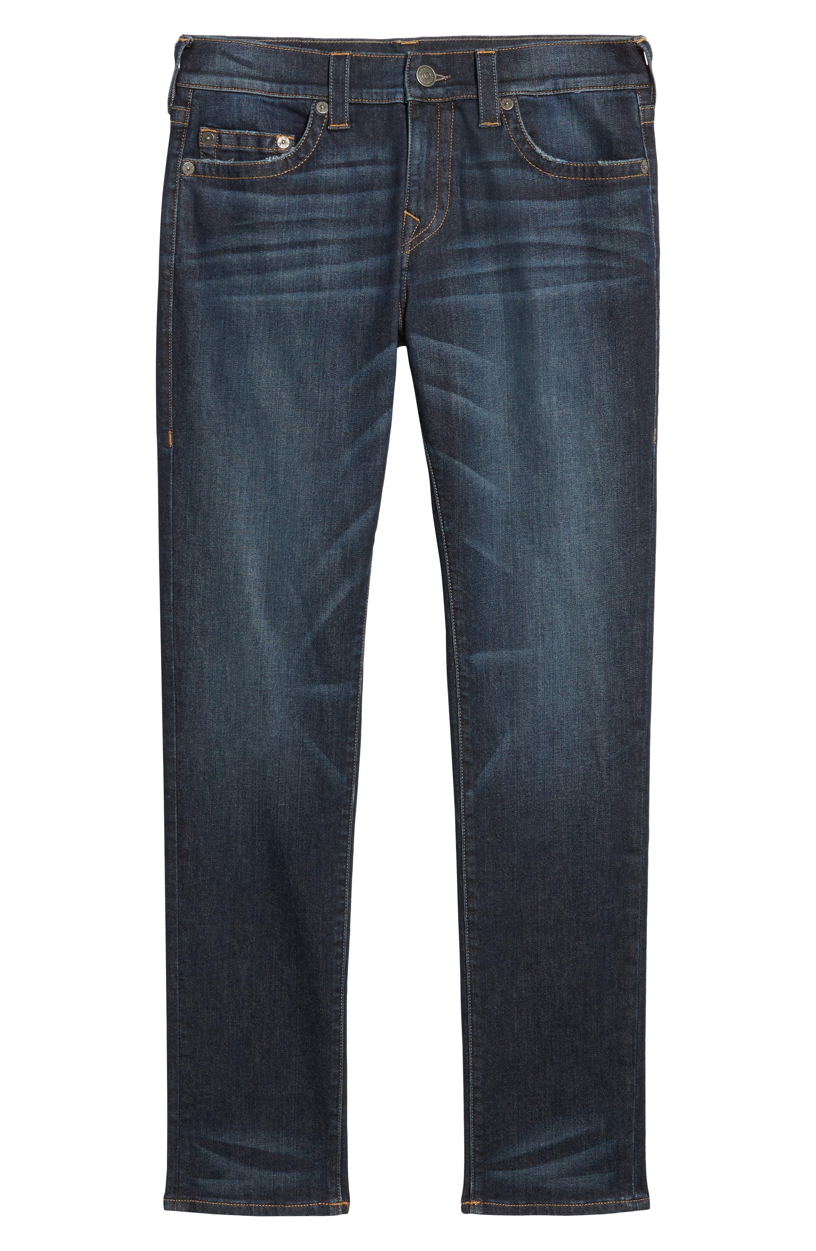 Alternate Image 6  - True Religion Brand Jeans Rocco Skinny Fit Jeans (Dark Indigo Luxe)