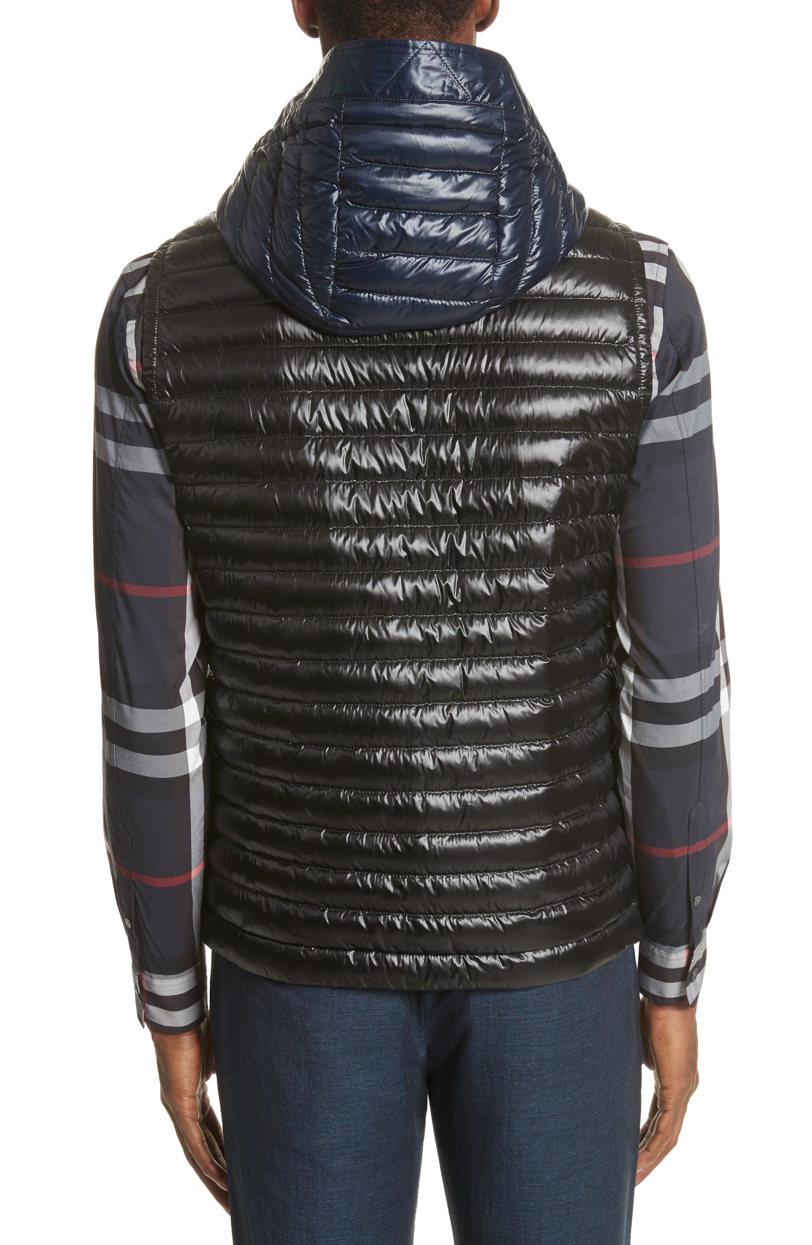 Aldridge Quilted Vest with Removable Hood,                             Alternate thumbnail 2, color,                             Black