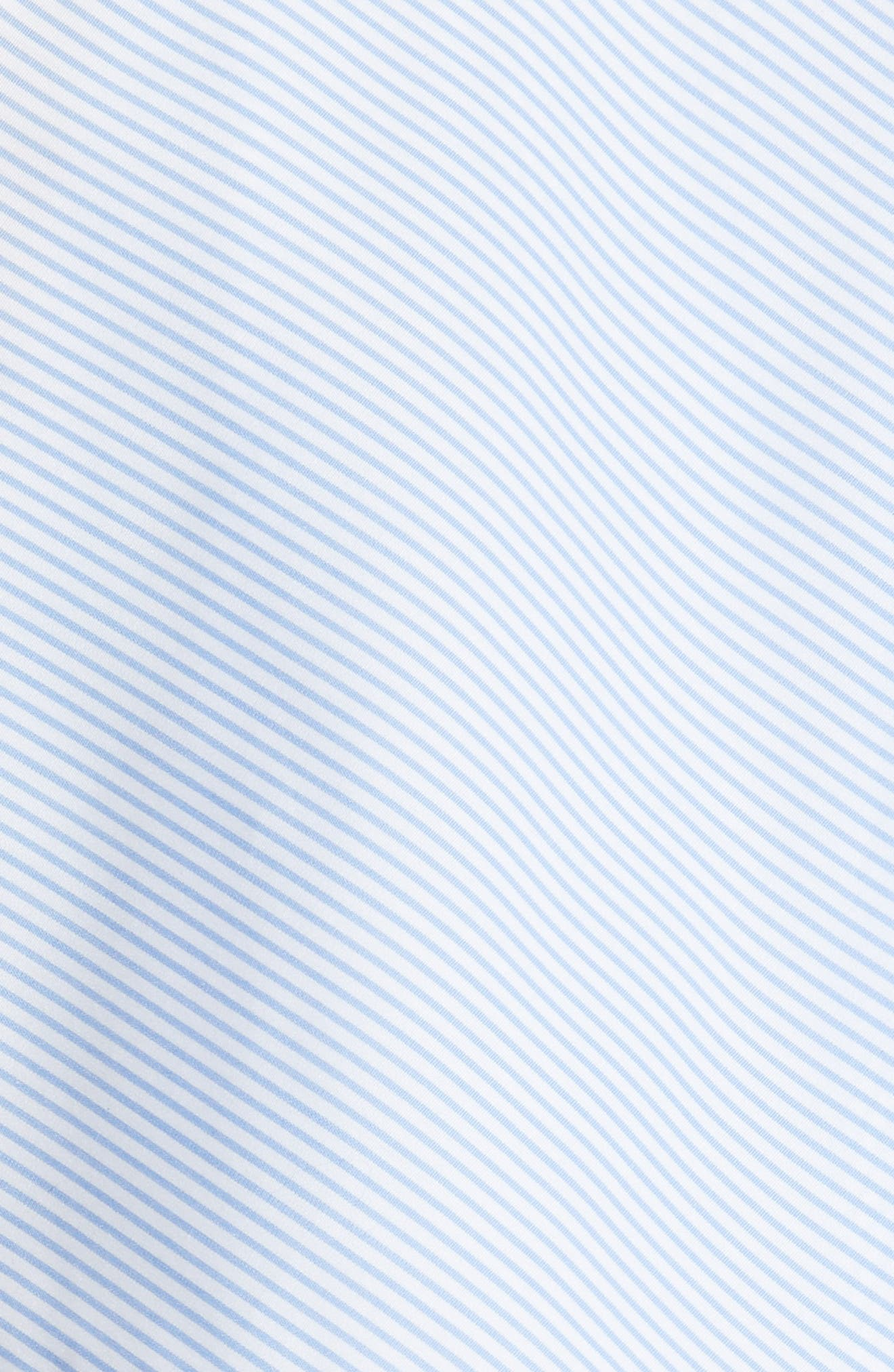 Adrie Ruffle Blouse,                             Alternate thumbnail 5, color,                             Light Blue Stripe
