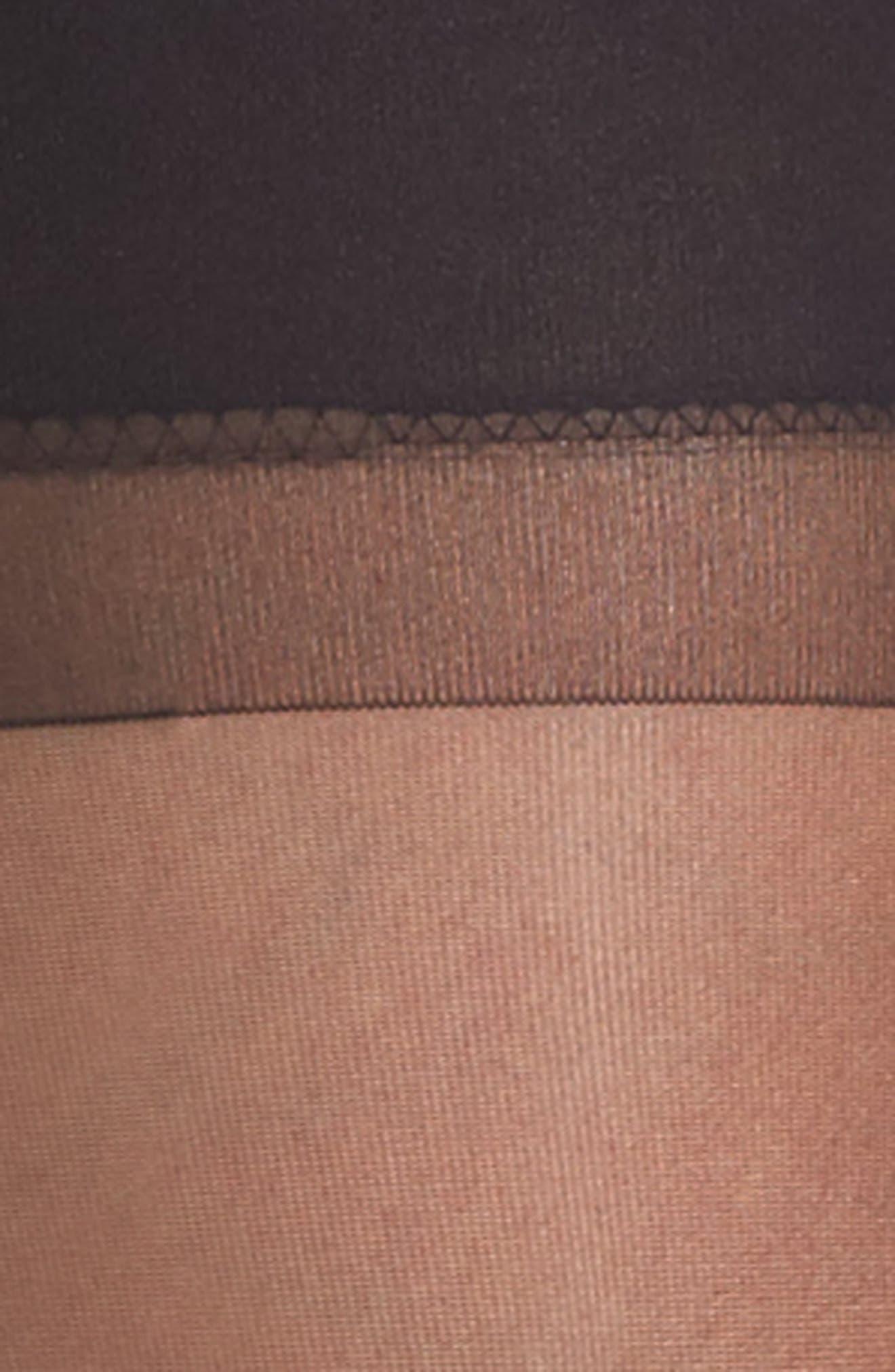 Evita Stockings & Garter Belt,                             Alternate thumbnail 3, color,                             Black
