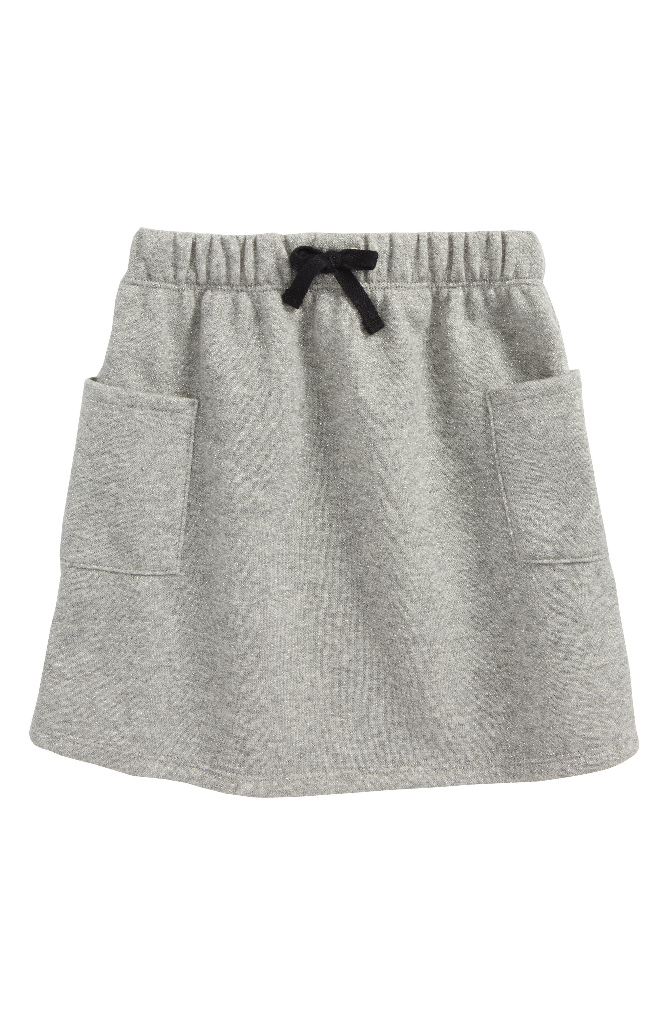 Sparkle Terry Skirt,                         Main,                         color, Grey Medium Heather