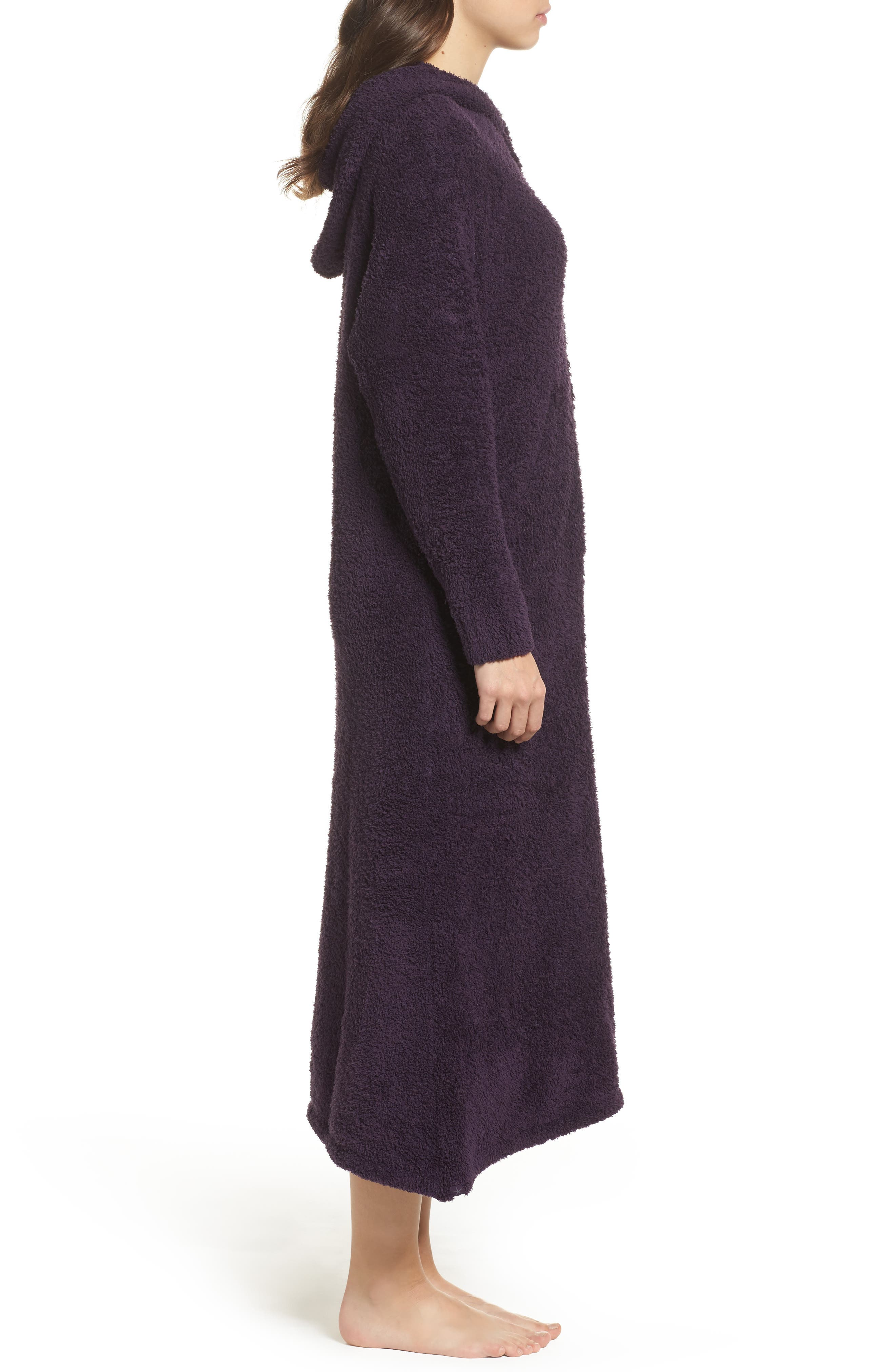 Alternate Image 3  - Barefoot Dreams® CozyChic® Hooded Zip Robe