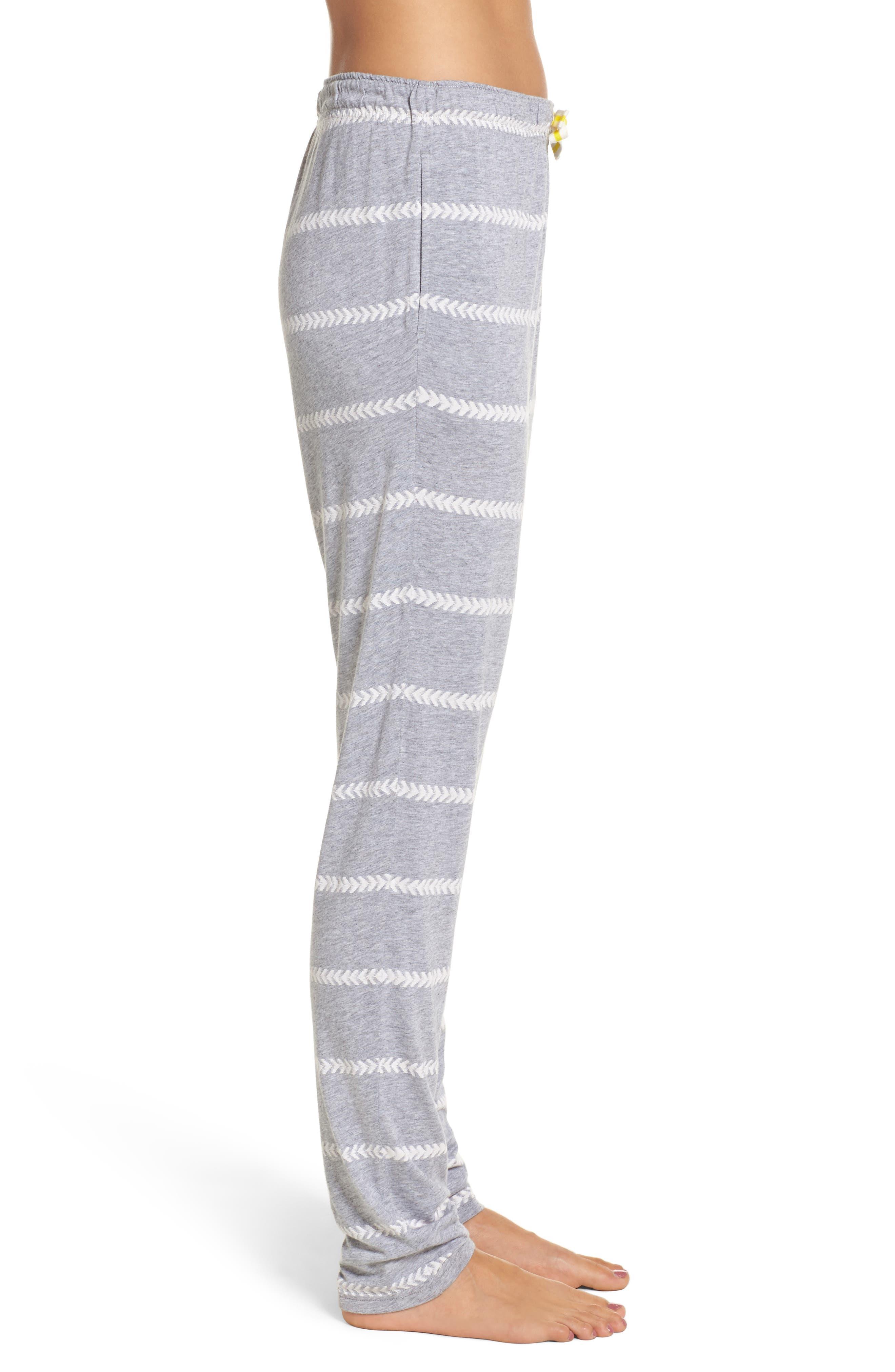 Alice Lounge Pants,                             Alternate thumbnail 3, color,                             Chevron Stripe Grey