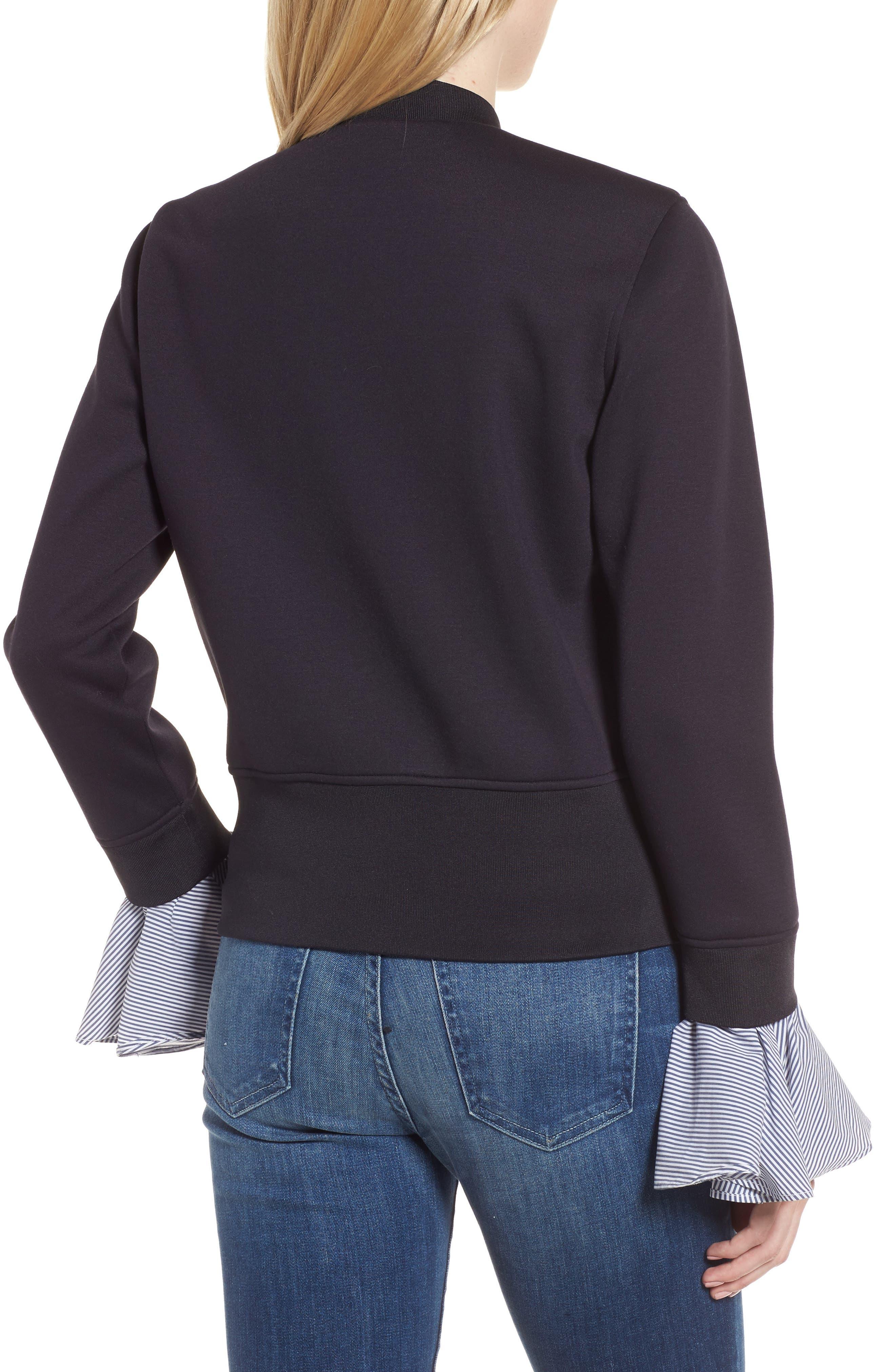 Alternate Image 2  - Chelsea28 Ruffle Sleeve Jacket