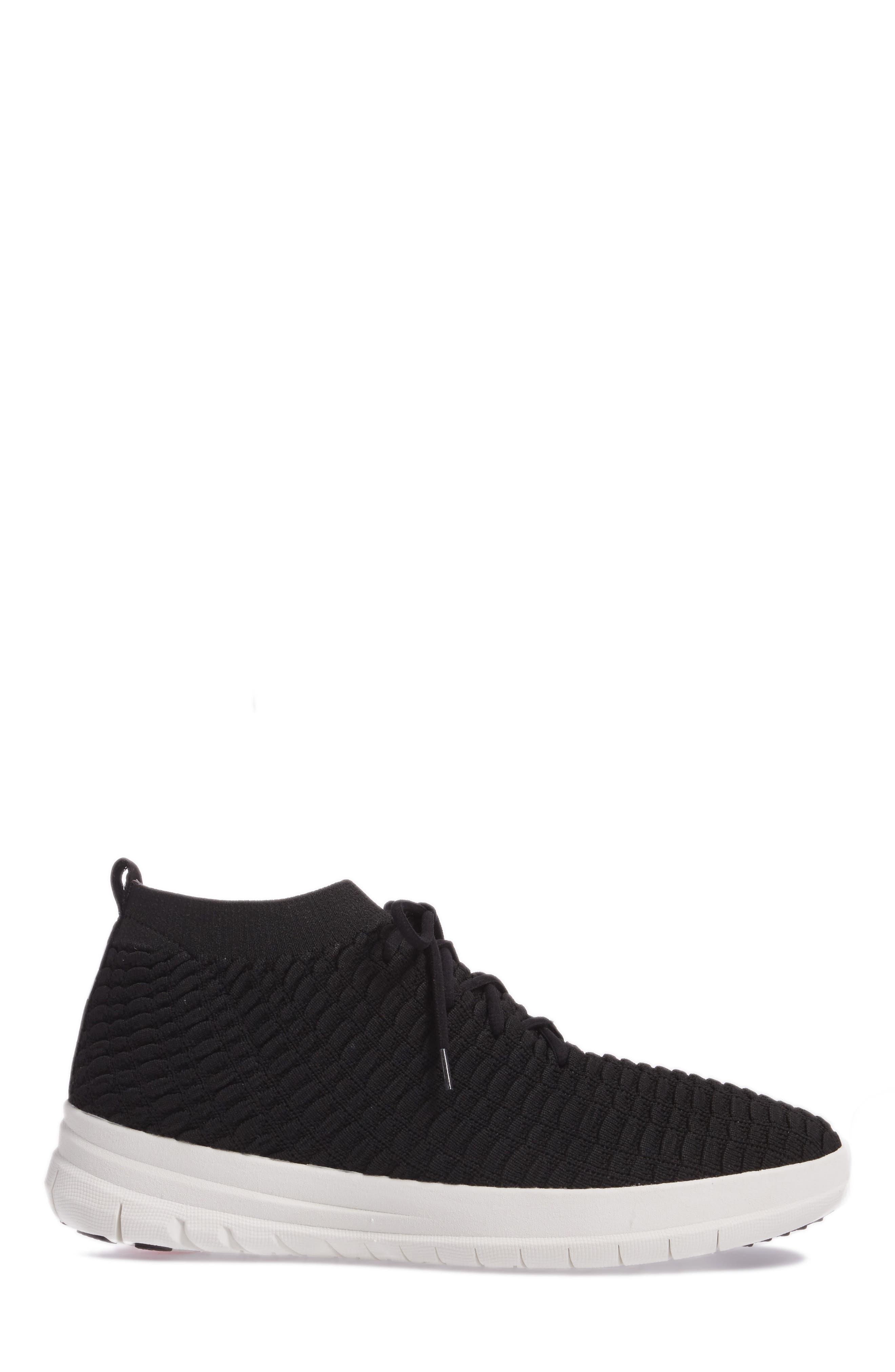 Uberknit Sneaker,                             Alternate thumbnail 3, color,                             Black Textile