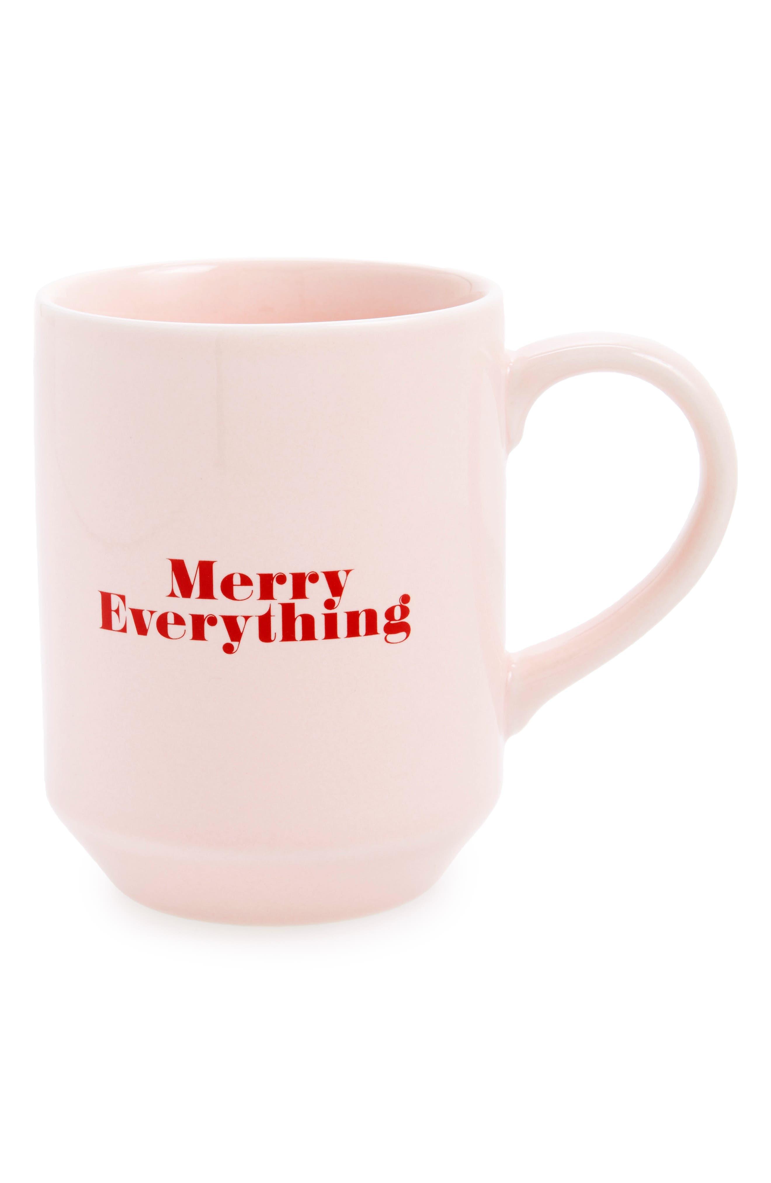 Merry Coffee Mug,                         Main,                         color, Pink