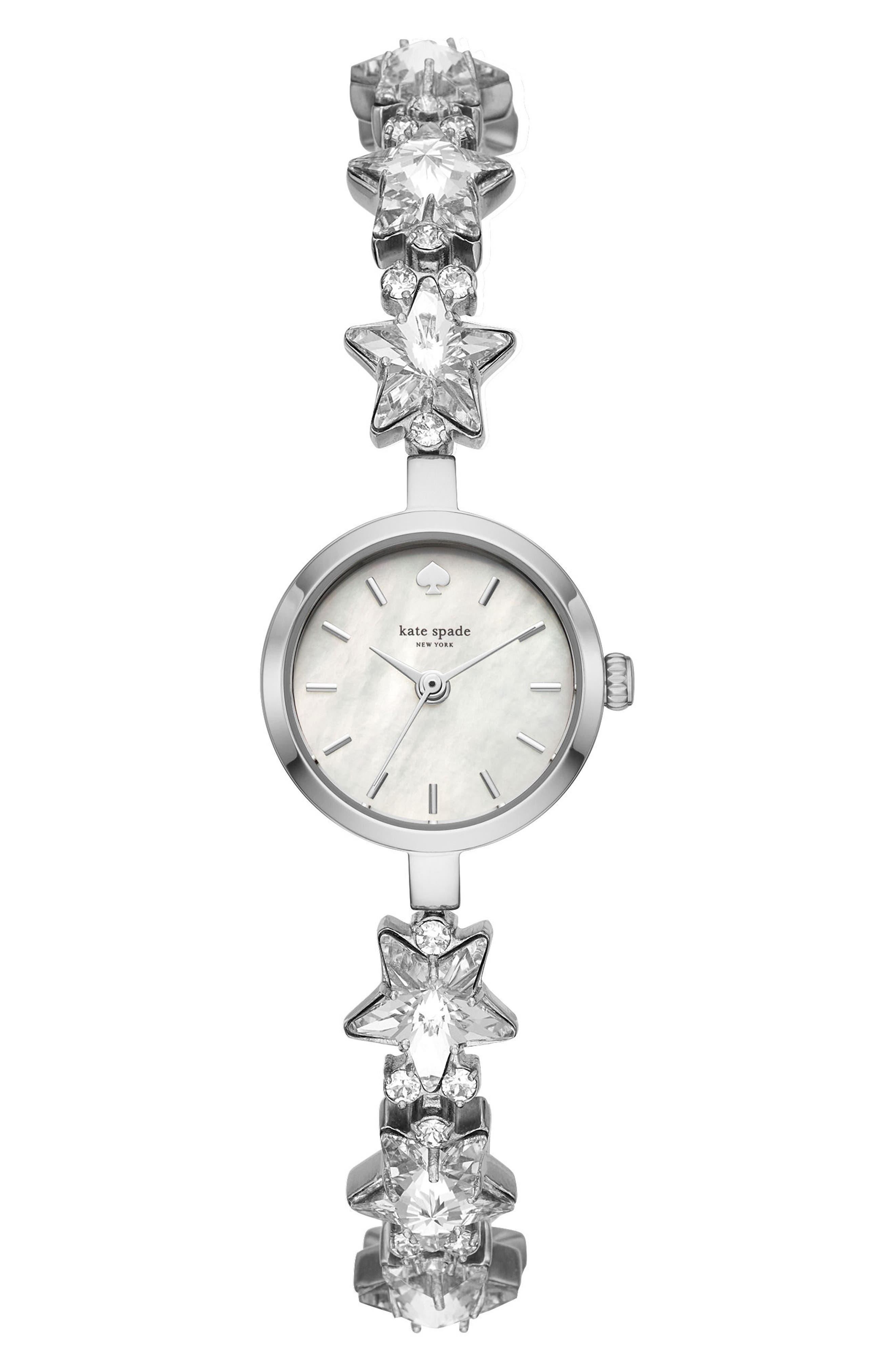 star mini gramercy bracelet watch, 20mm,                             Main thumbnail 1, color,                             Silver/ Mop/ Silver