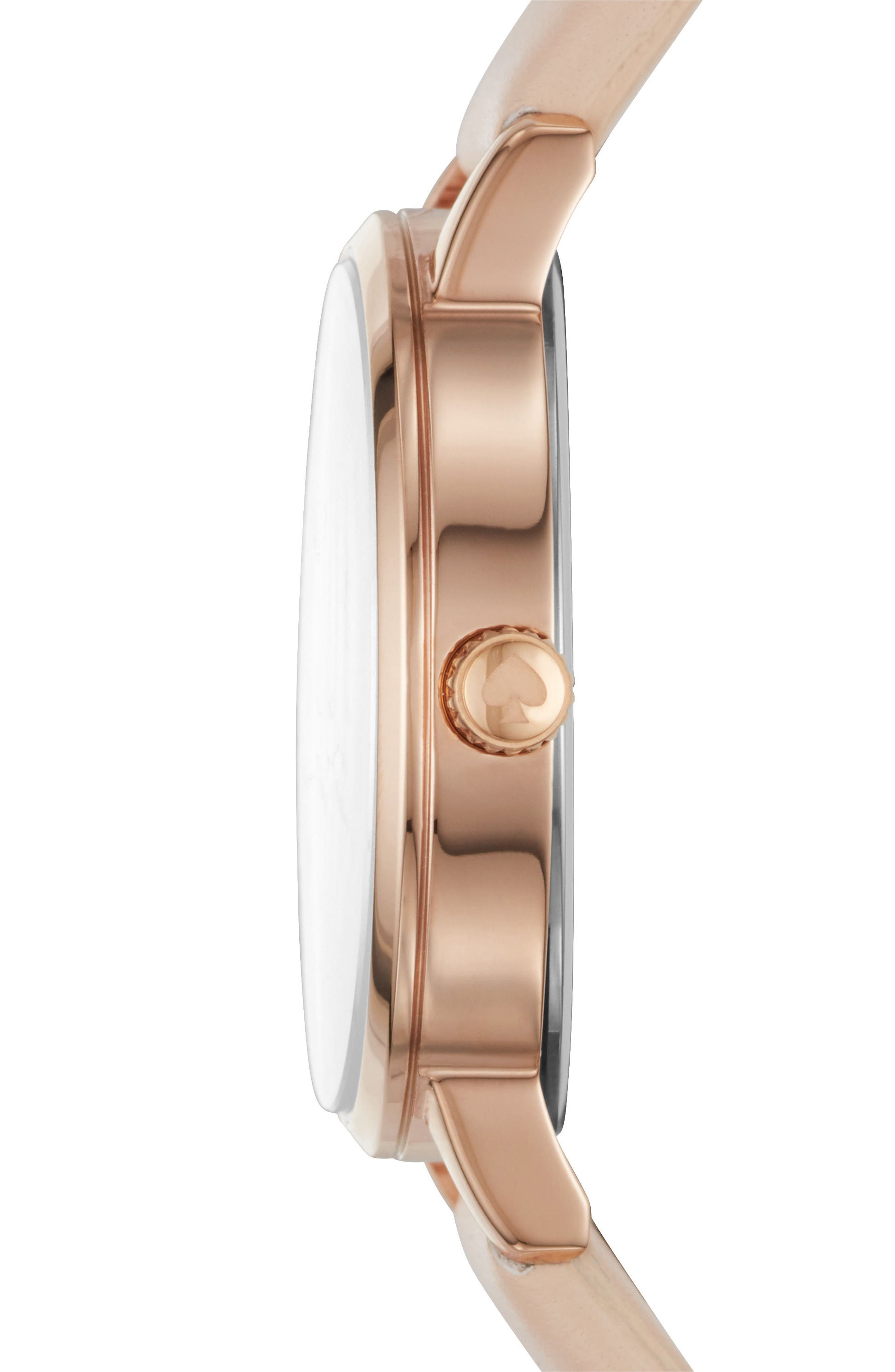 Alternate Image 2  - kate spade new york metro leather strap watch, 34mm