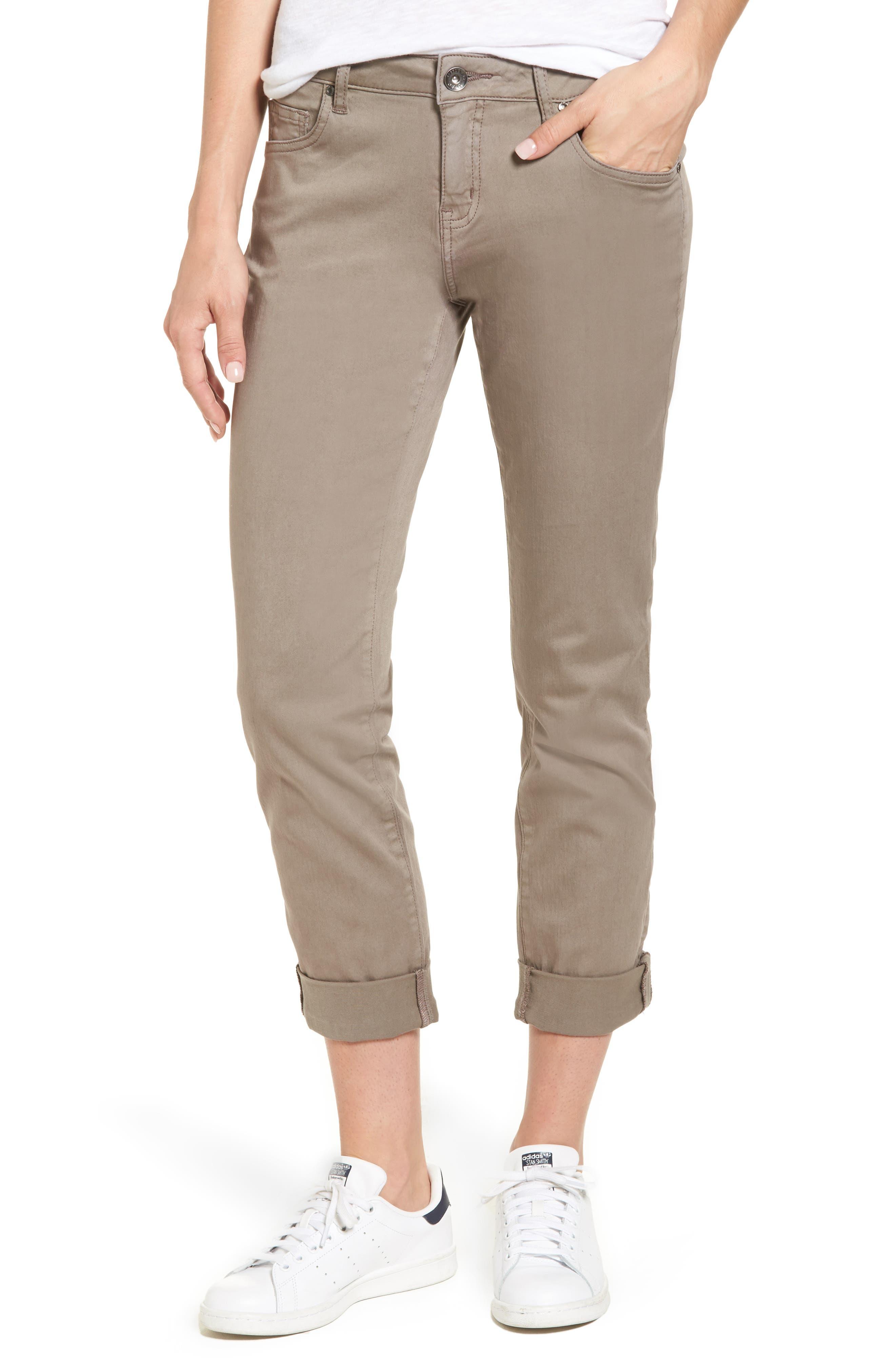 Jag Jeans Carter Knit Denim Girlfriend Jeans (Gull)