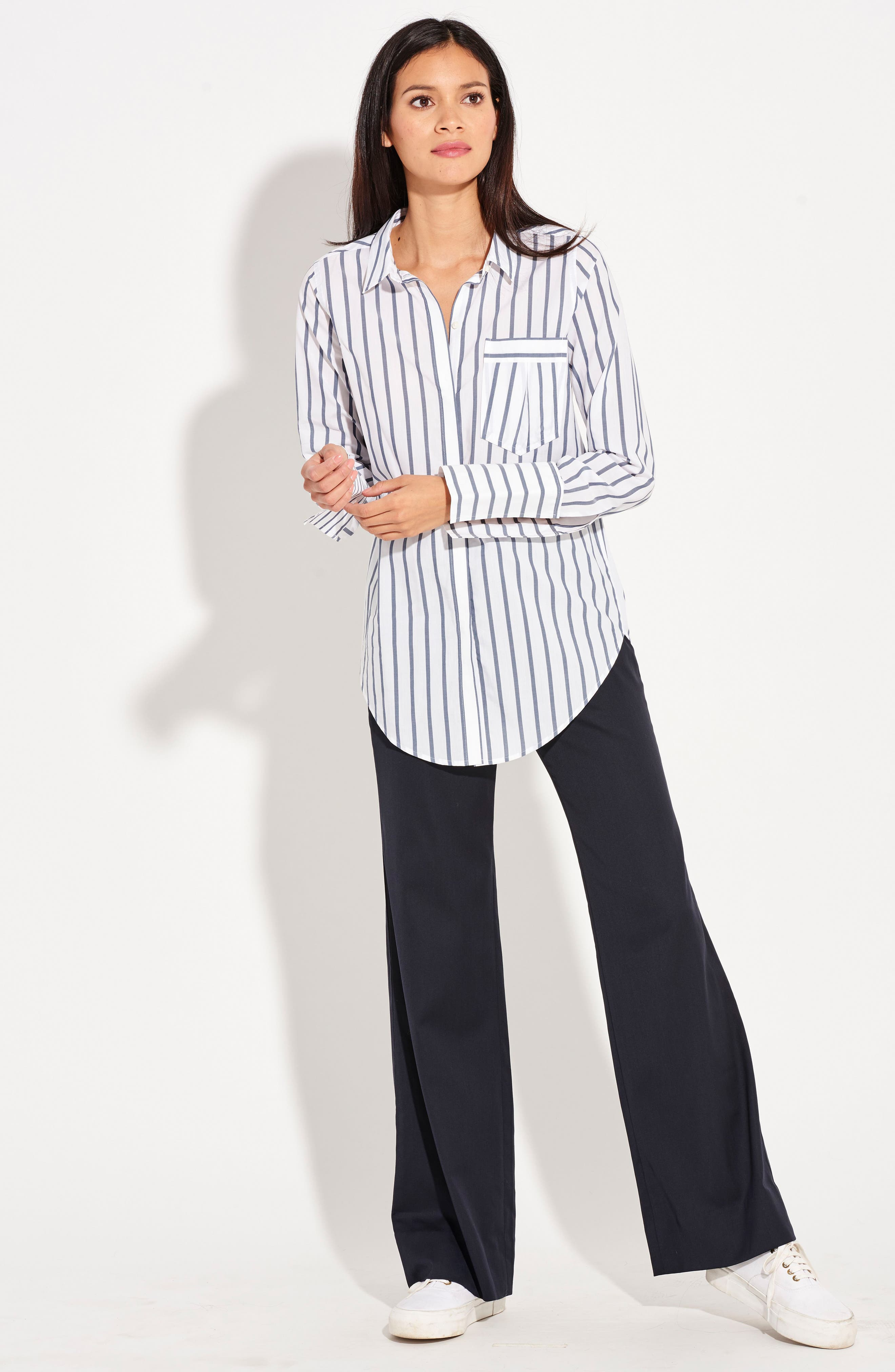 The Great Hope Stripe Shirt,                         Main,                         color, White/ Navy