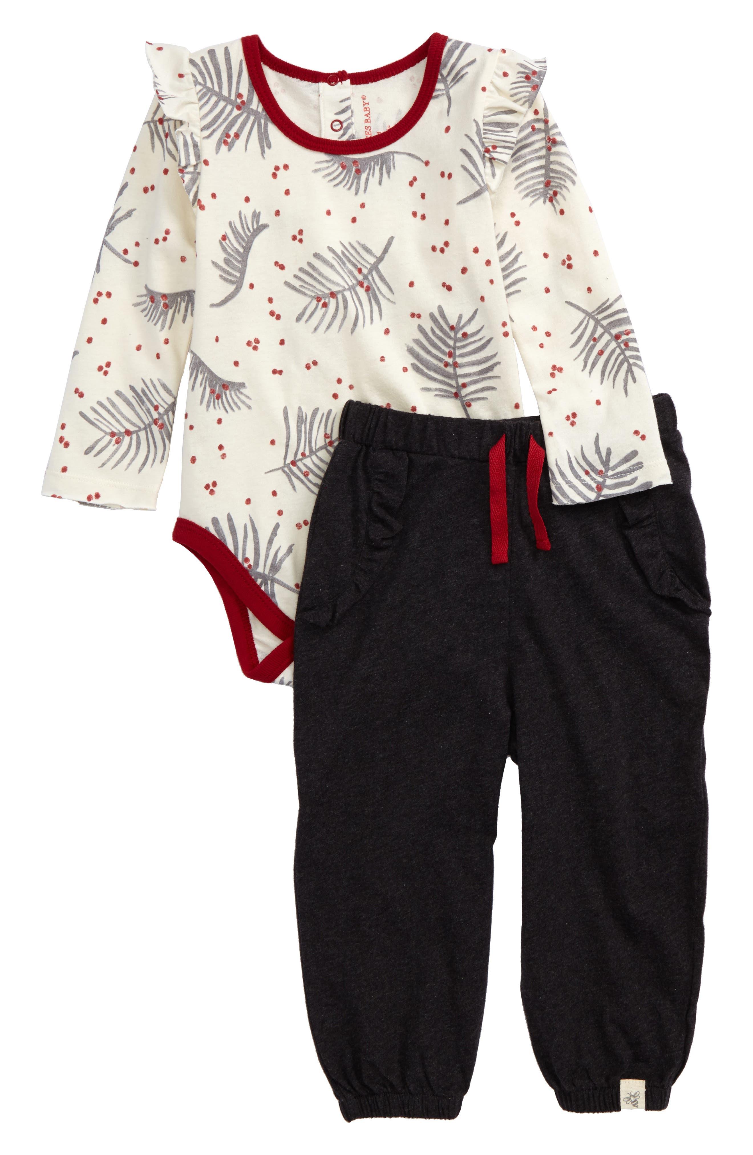 Burt's Bees Baby Organic Cotton Bodysuit & Pants Set (Baby Girls)