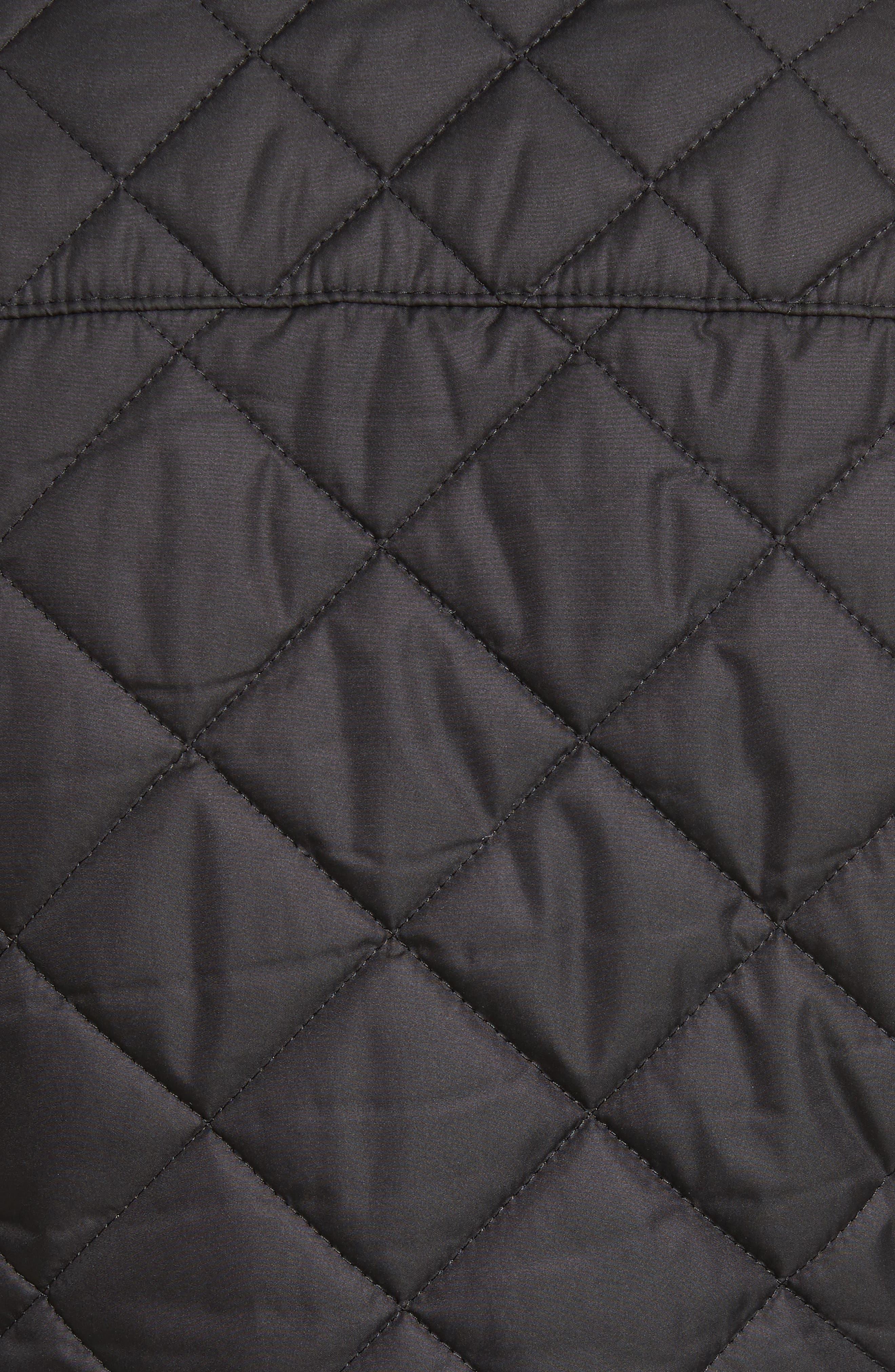 Westleton Quilted Vest,                             Alternate thumbnail 5, color,                             Black