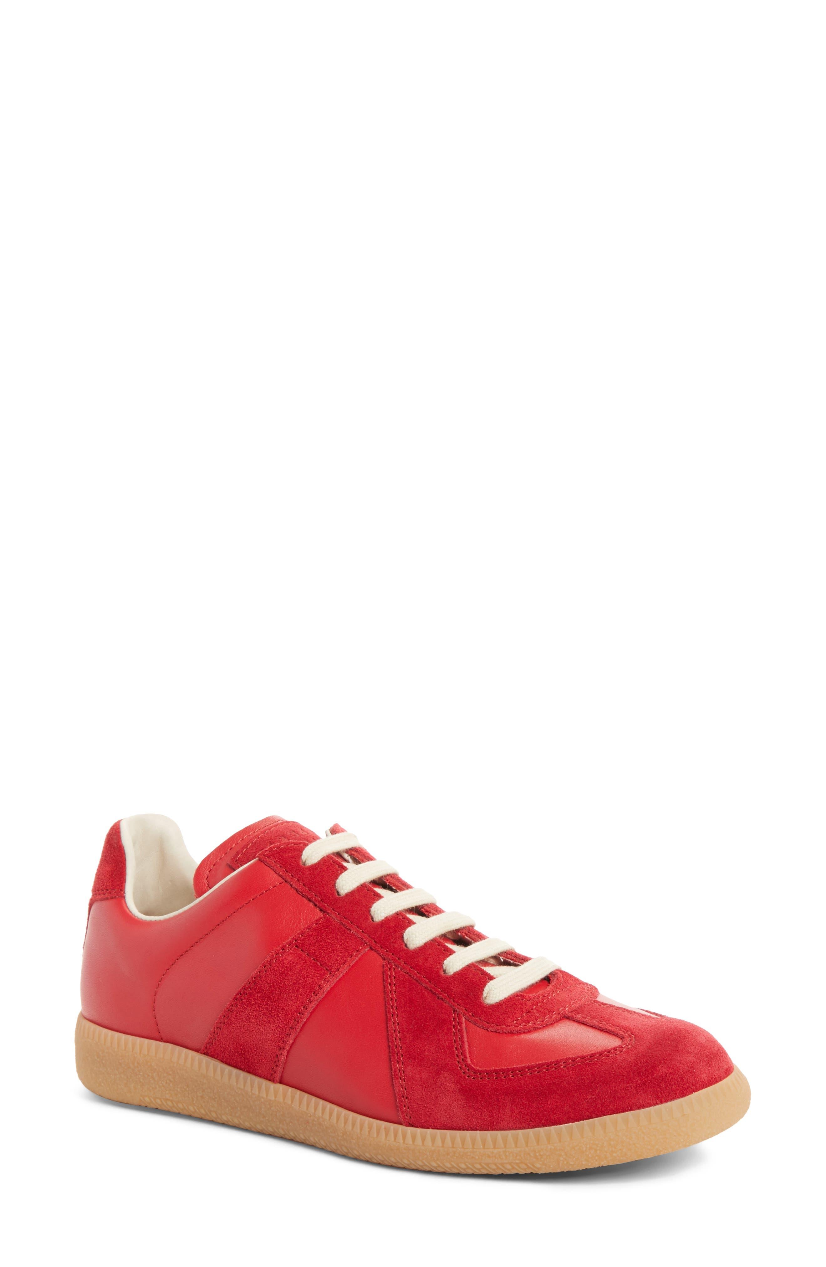 Replica Sneaker,                             Main thumbnail 1, color,                             Red/Amber
