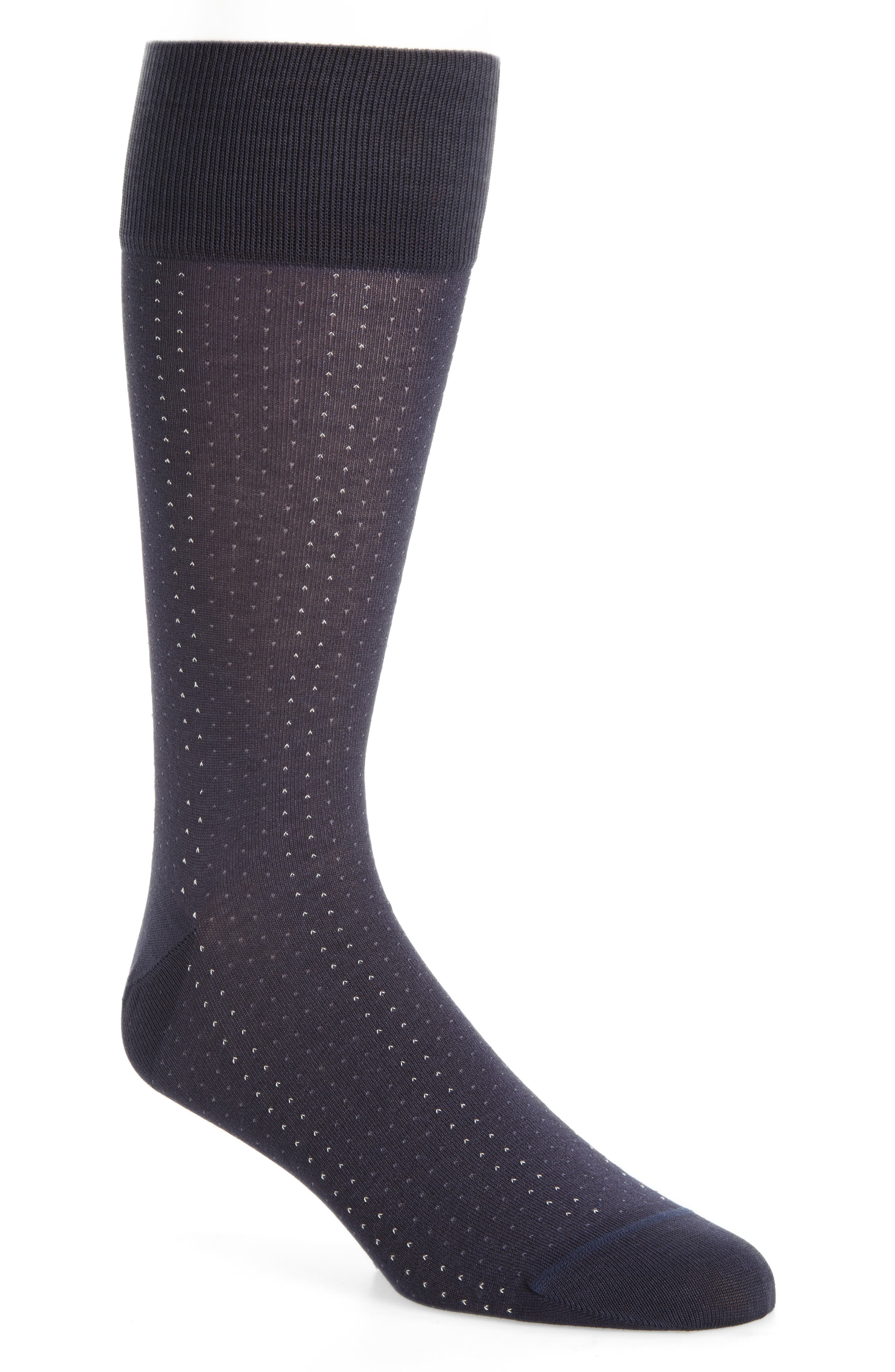 Birdseye Socks,                         Main,                         color, Navy/ Blue
