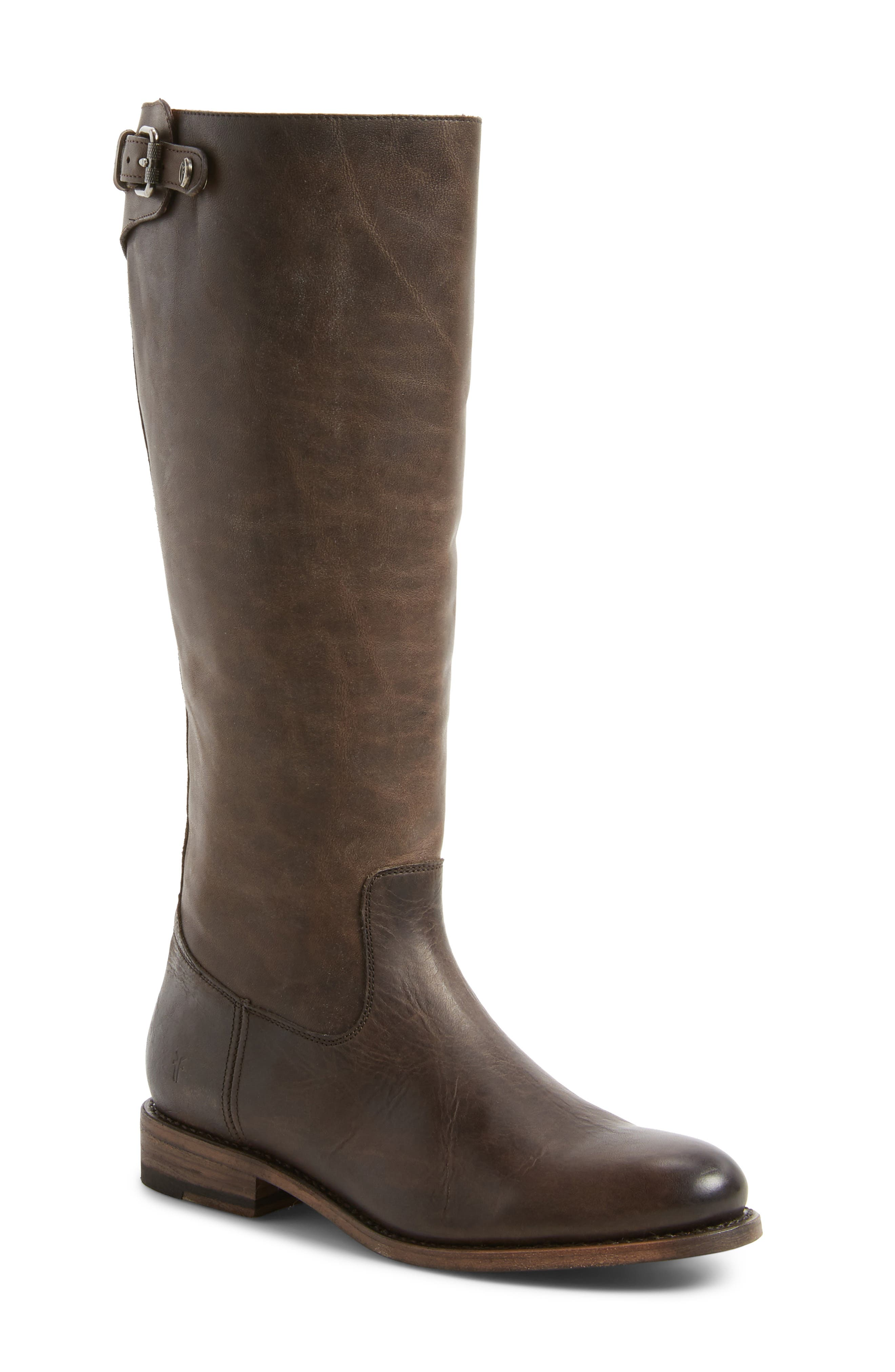 Alternate Image 1 Selected - Frye Jayden Buckle Back Zip Boot (Women) (Regular & Extended Calf)