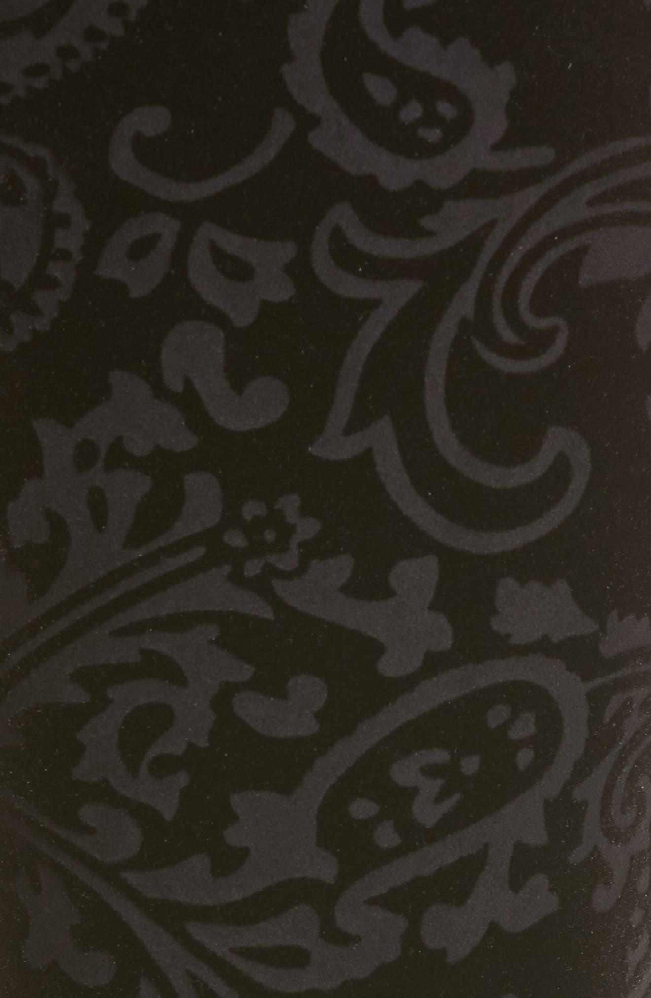 Paisley Velvet Ankle Skinny Jeans,                             Alternate thumbnail 5, color,                             Black