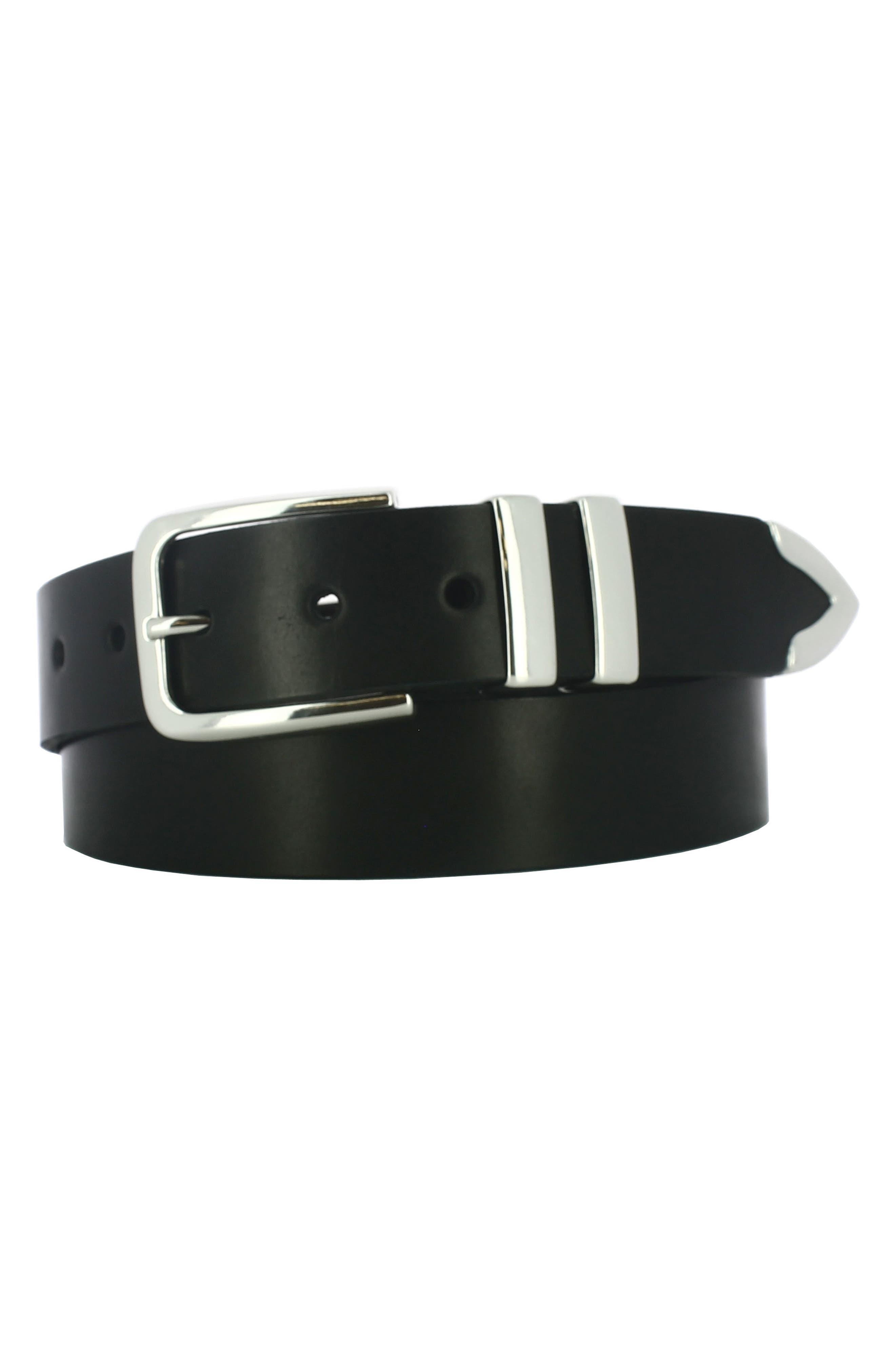 Archer Leather Belt,                         Main,                         color, Black