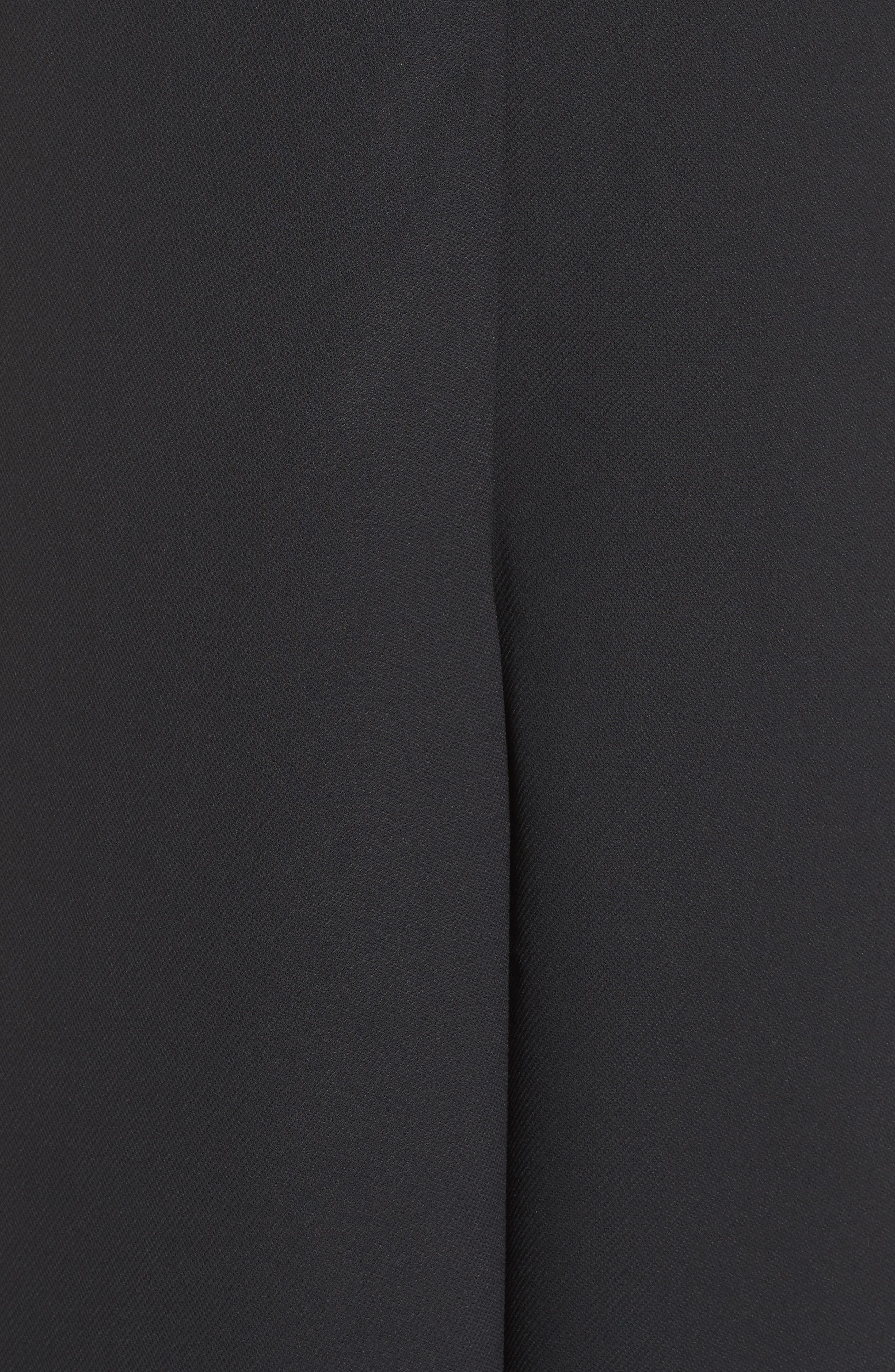 'Arrow' Crepe Coulotte Jumpsuit,                             Alternate thumbnail 5, color,                             Black