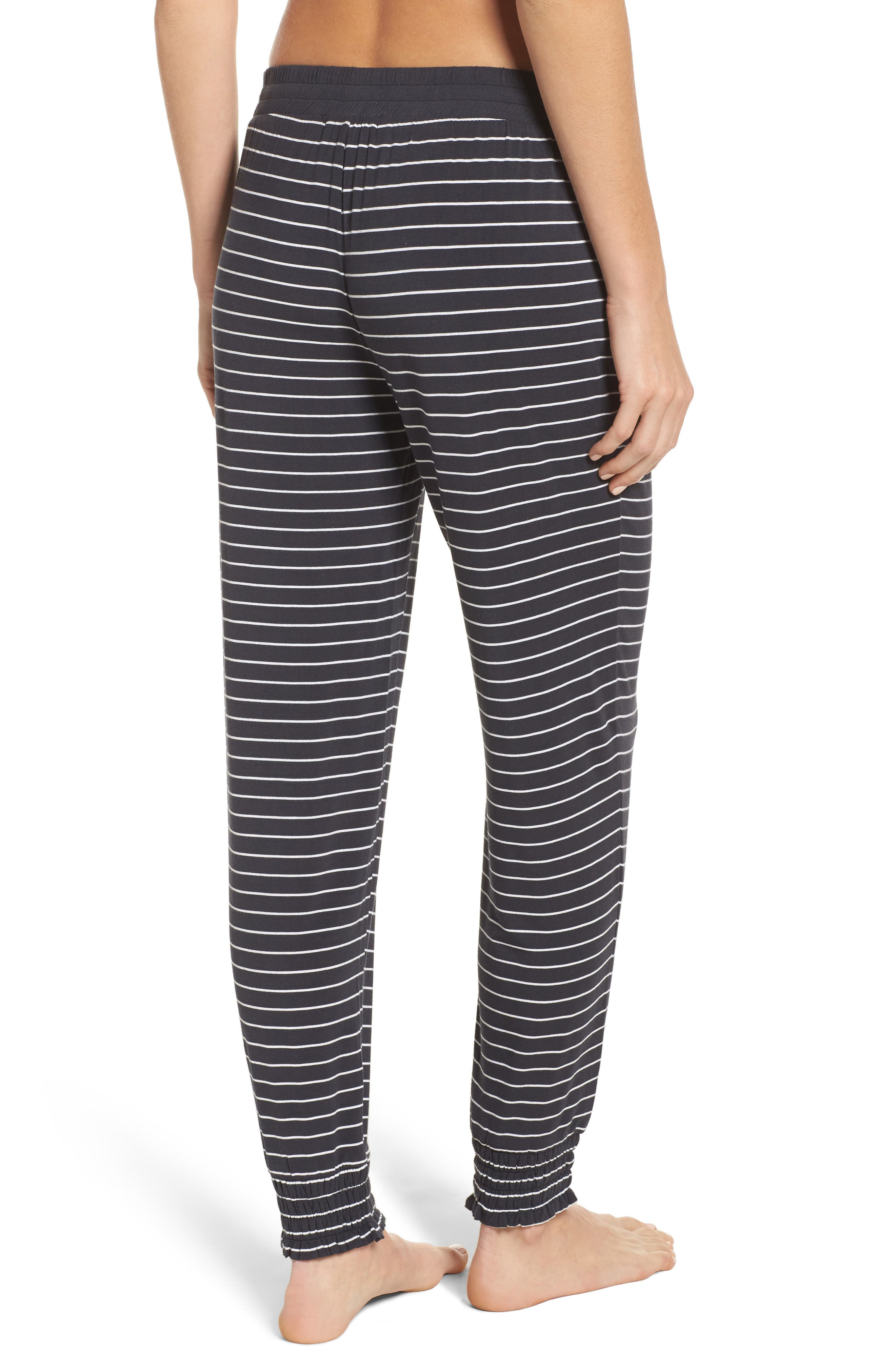 Stripe Jersey Lounge Pants,                             Alternate thumbnail 2, color,                             Smoke