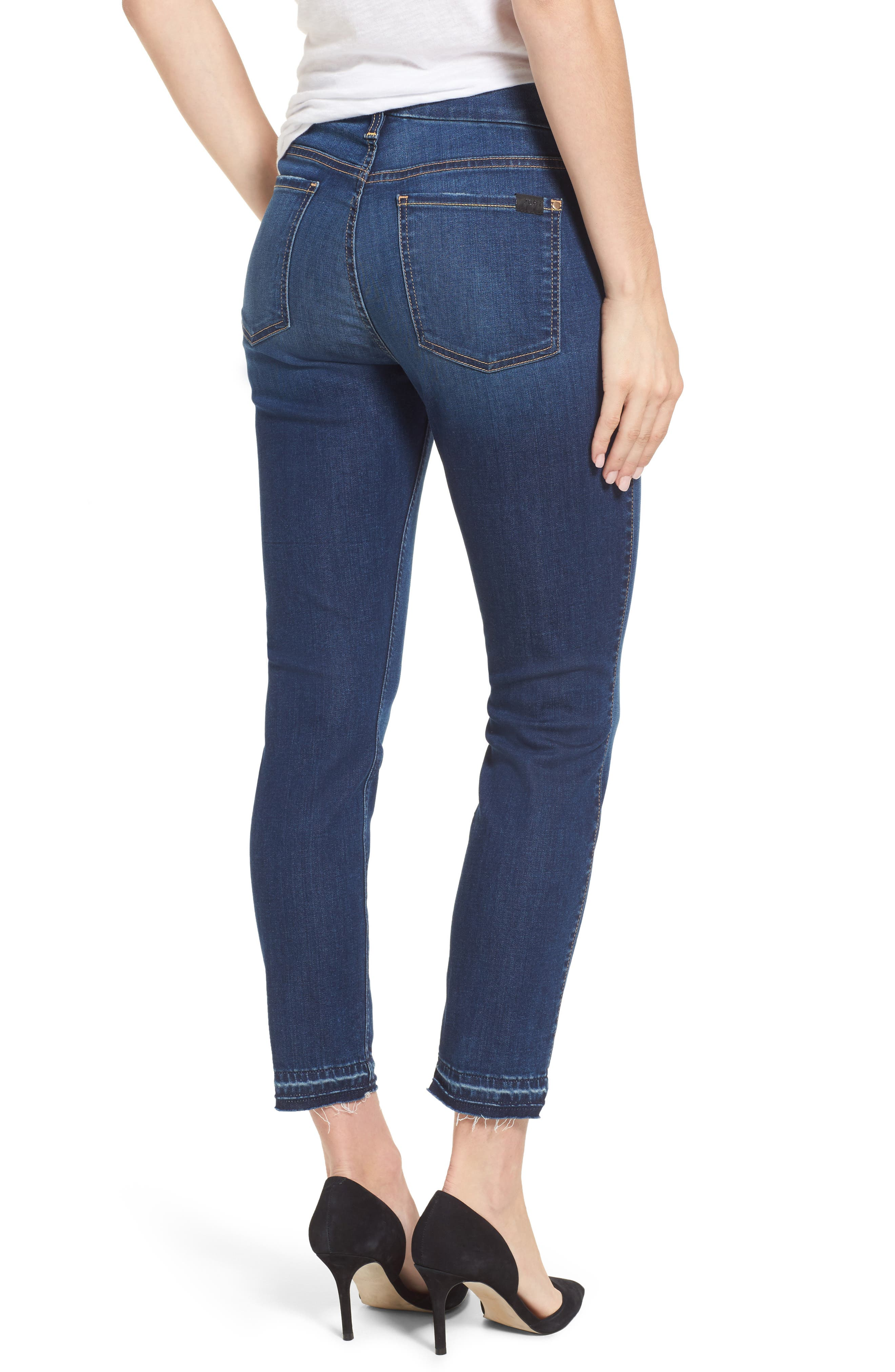 Release Hem Skinny Ankle Jeans,                             Alternate thumbnail 2, color,                             Riche Touch Medium Blue