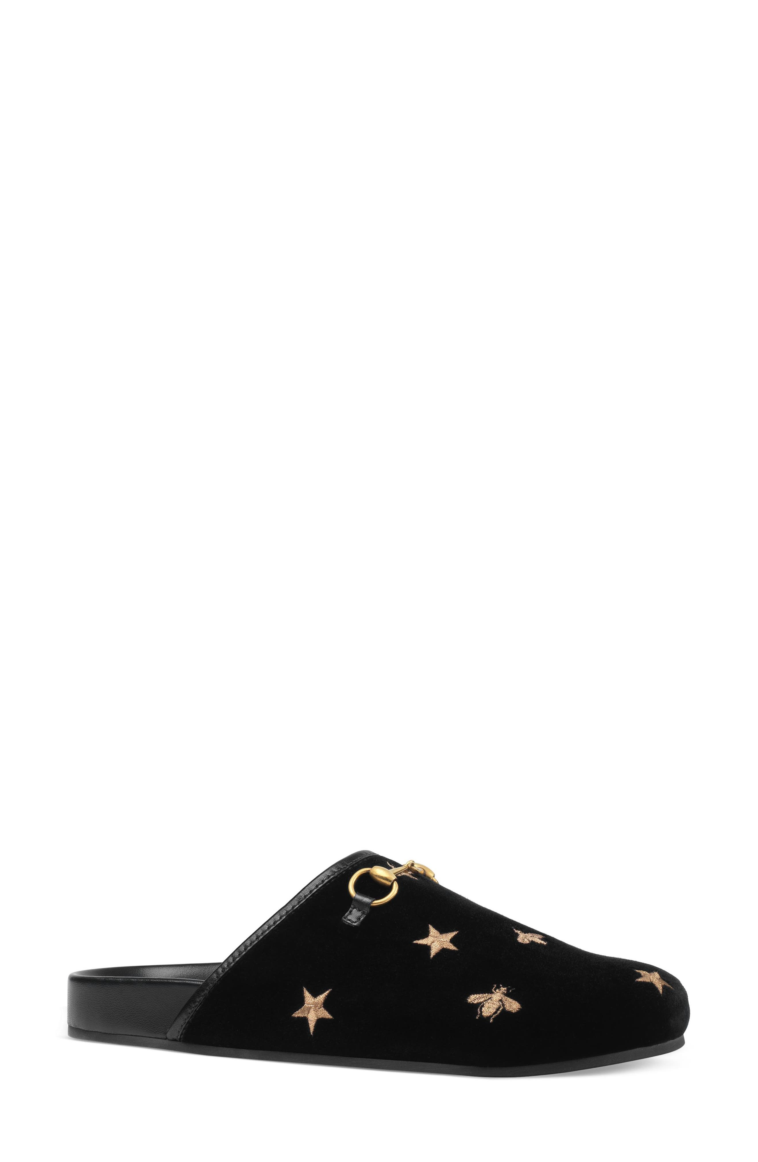 New River Embroidered Mule,                         Main,                         color, Black