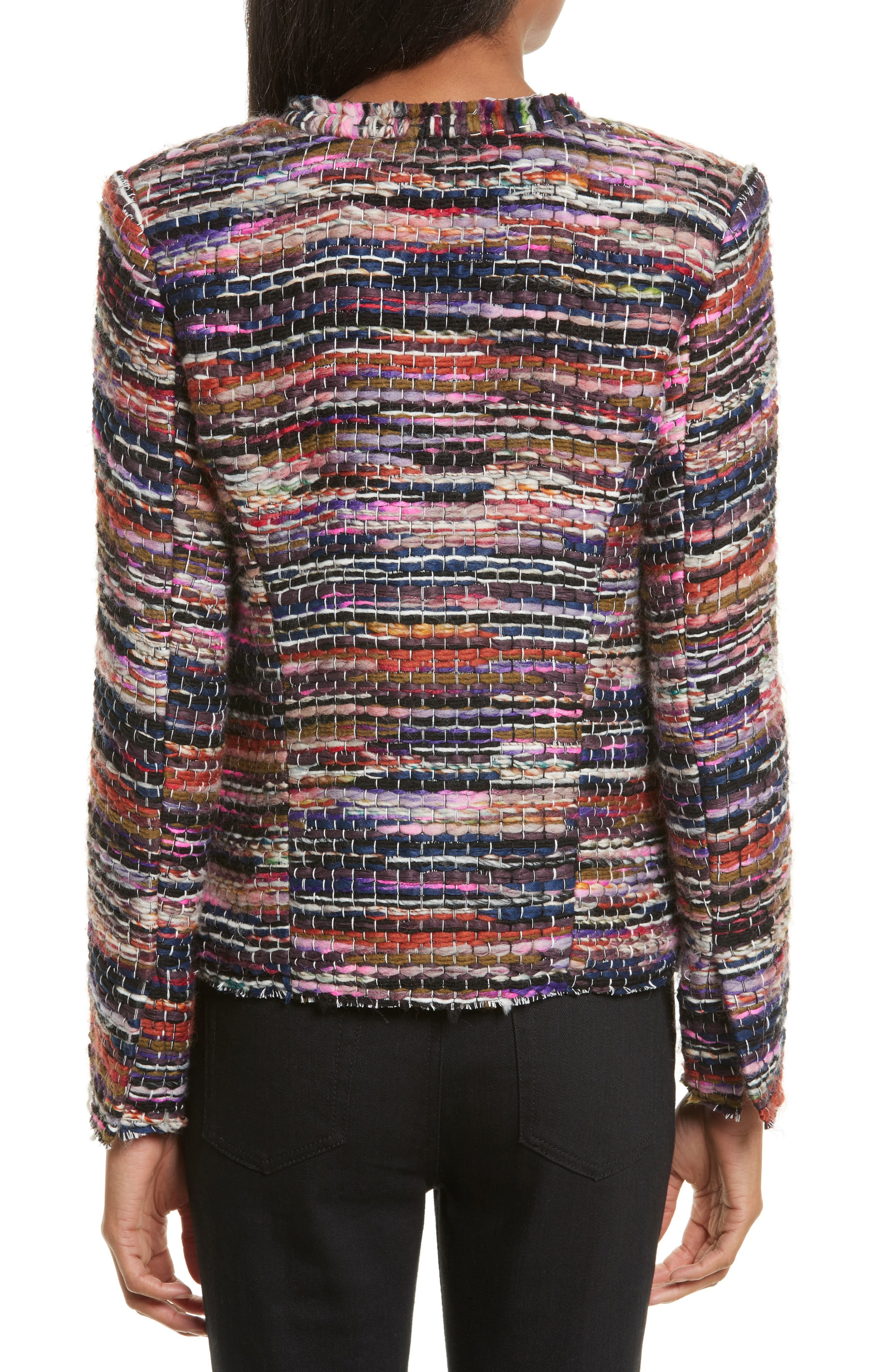 Namanta Tweed Jacket,                             Alternate thumbnail 2, color,                             Mulberry