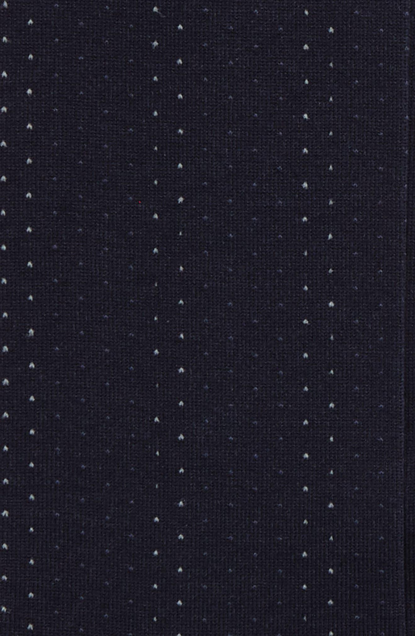 Mini Birdseye Over the Calf Socks,                             Alternate thumbnail 2, color,                             Navy/ Blue