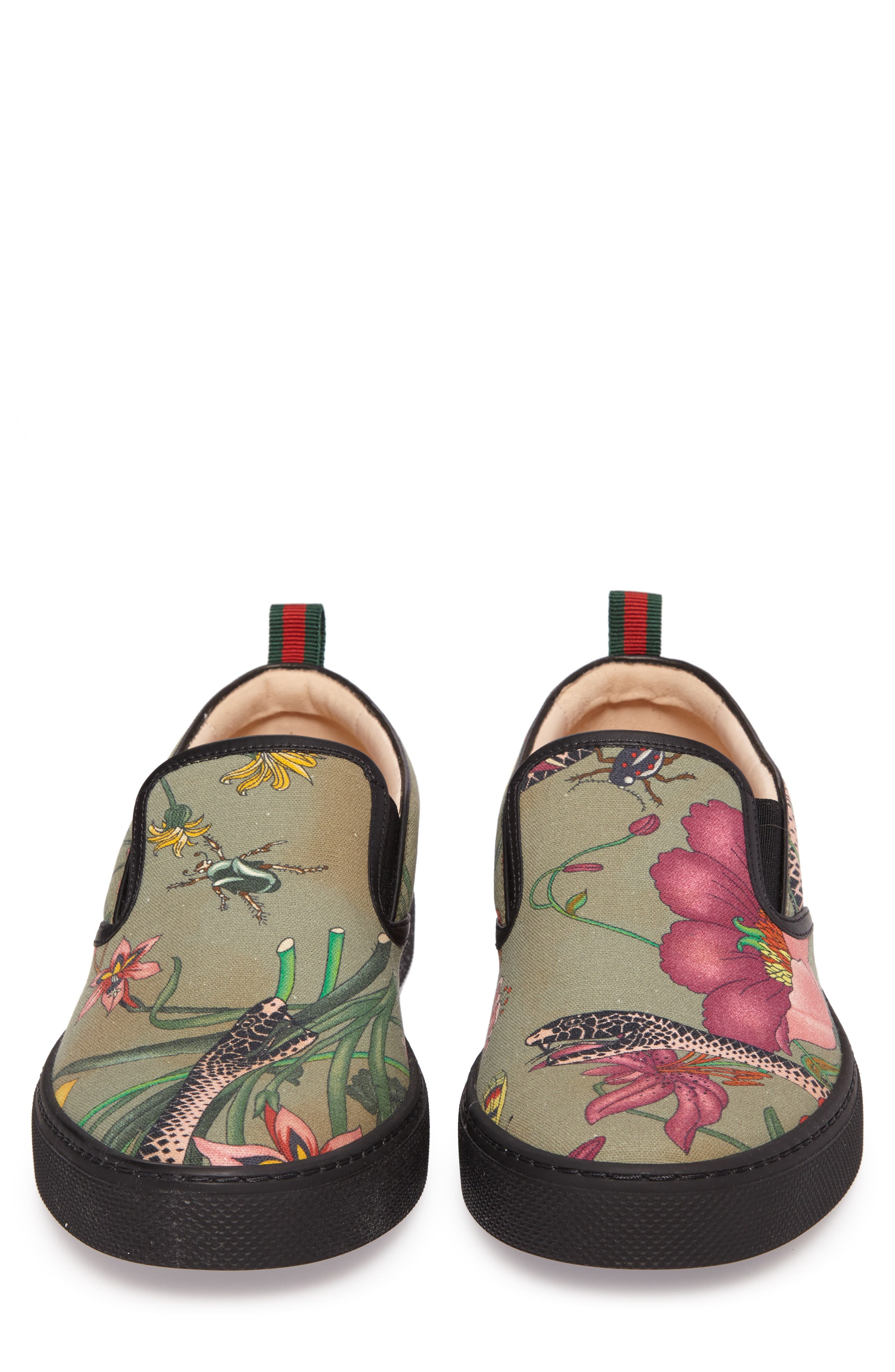 Flora Snake Slip-On Sneaker,                             Alternate thumbnail 5, color,                             Green