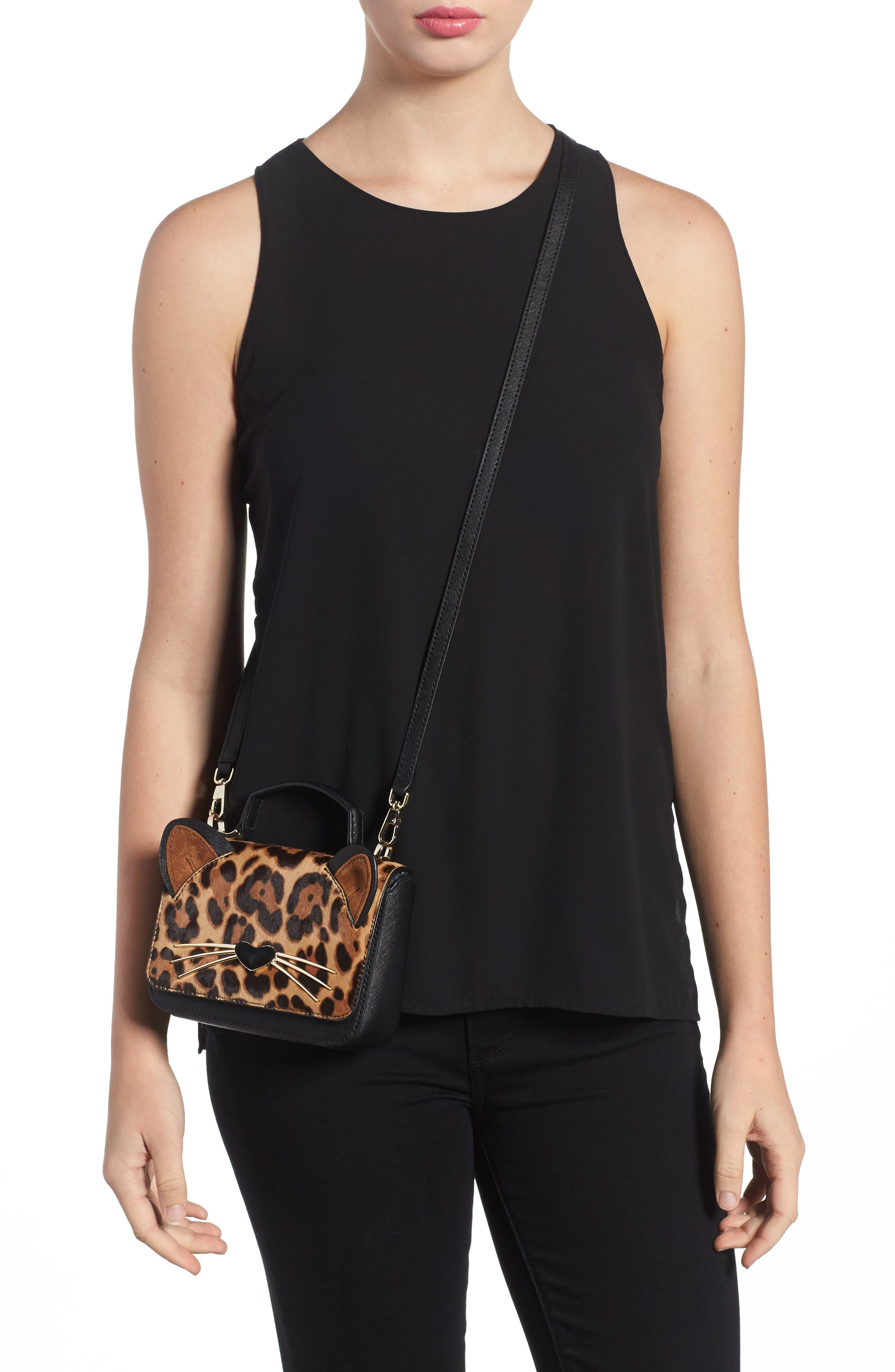Alternate Image 2  - kate spade new york run wild mini janine genuine calf hair crossbody bag