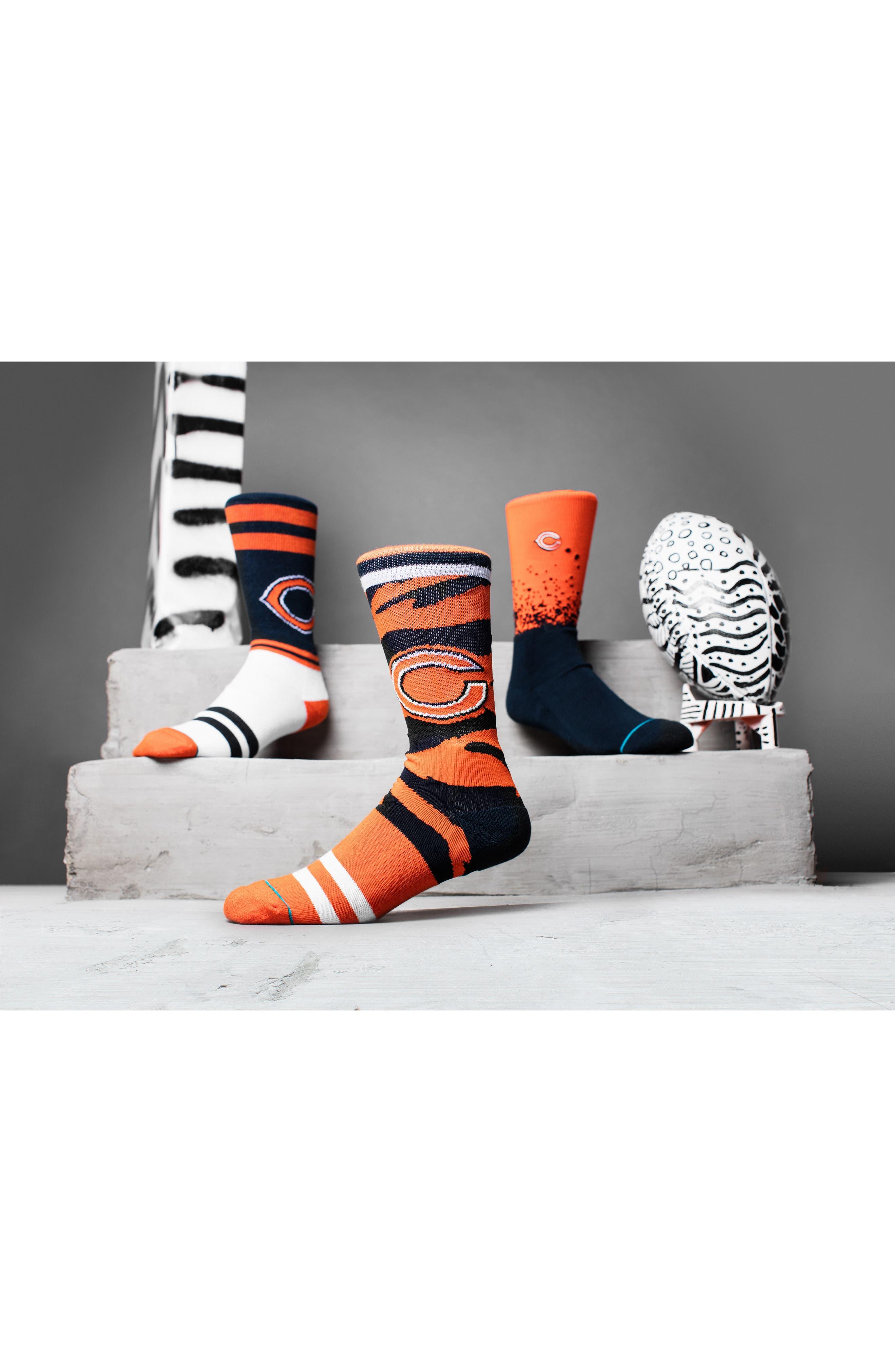 Chicago Bears - Fade Socks,                             Alternate thumbnail 3, color,                             Orange