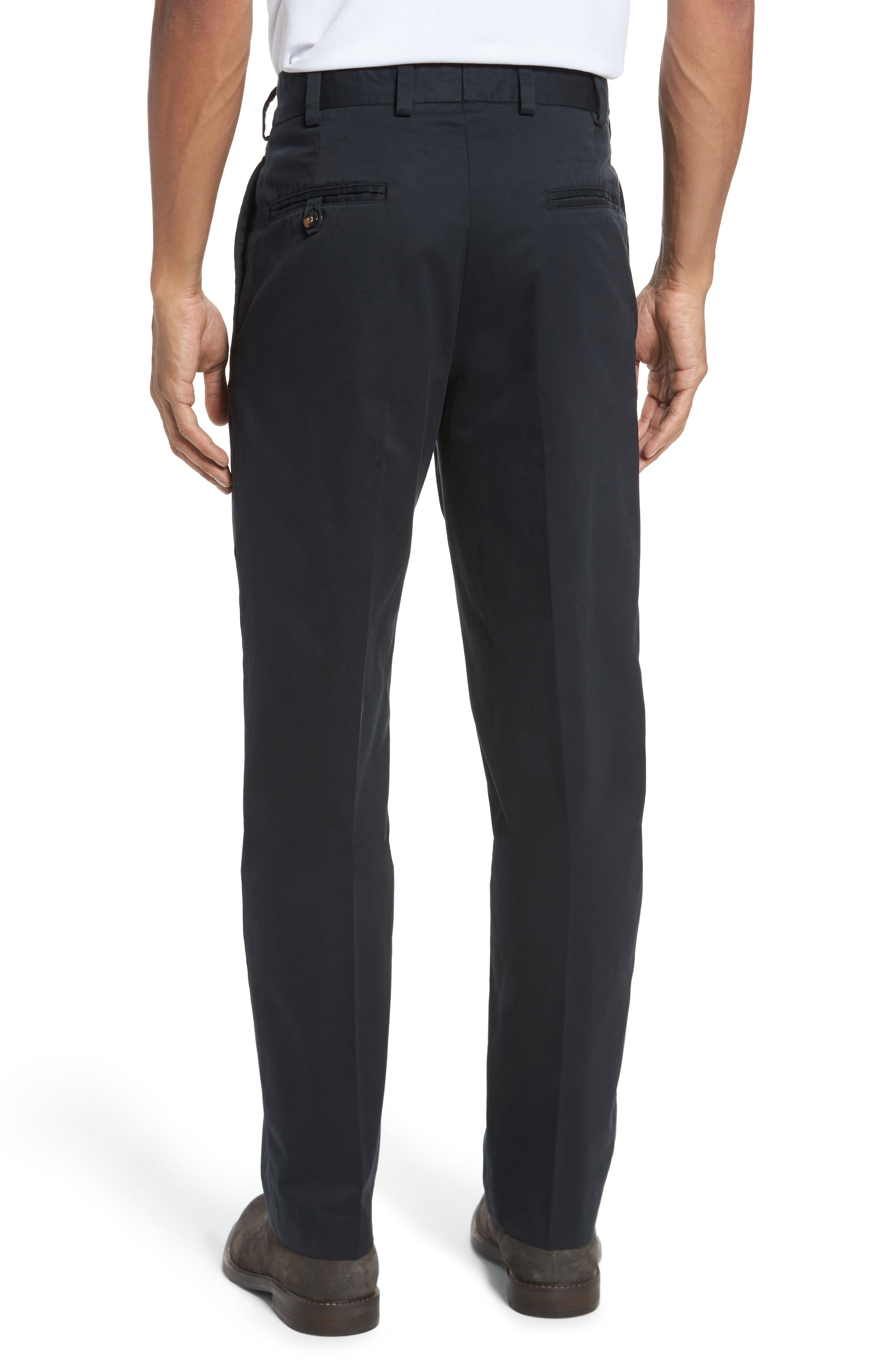 Classic Fit Chamois Cloth Pants,                             Alternate thumbnail 2, color,                             Black