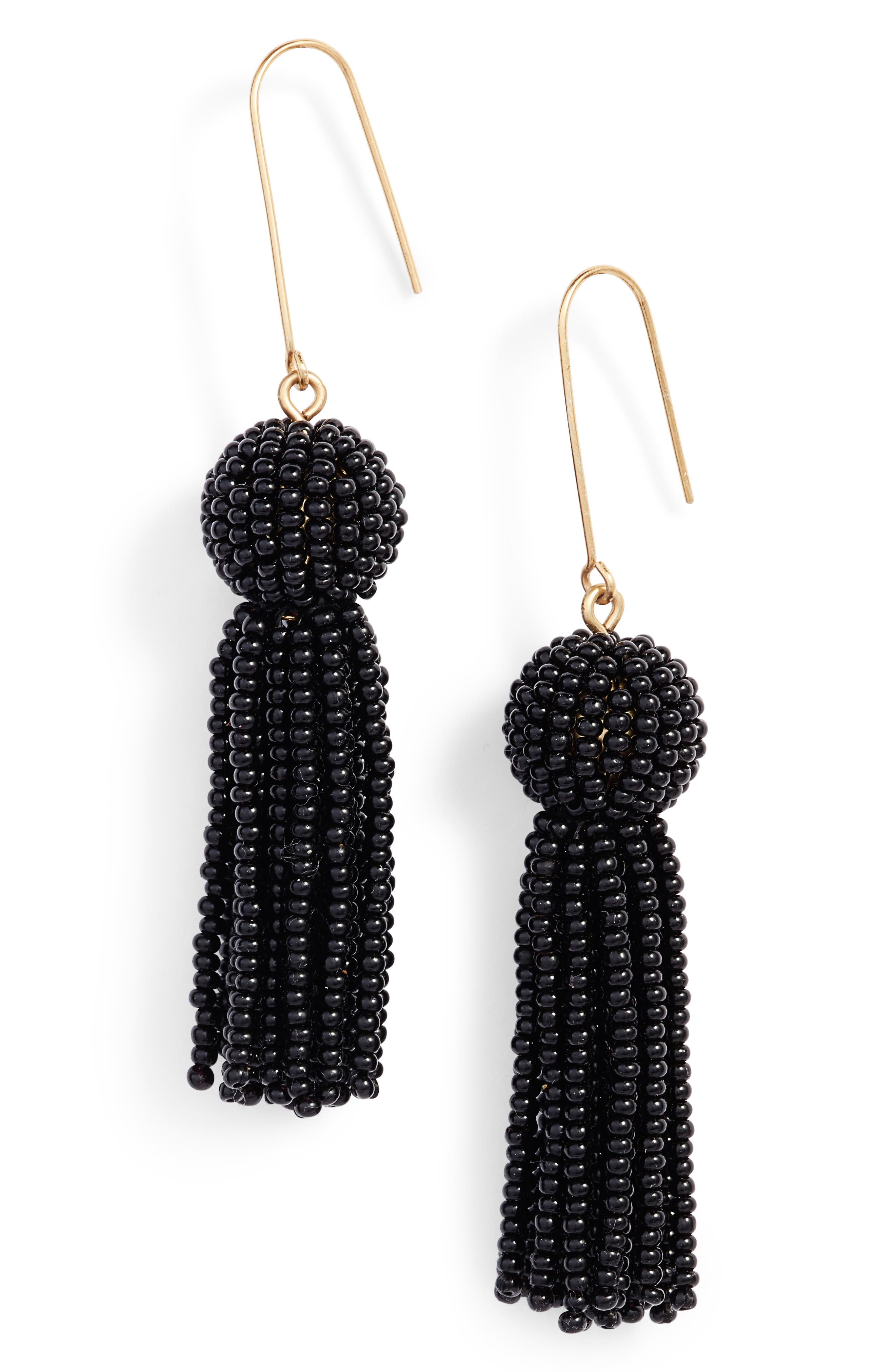 Main Image - Madewell Bead Tassel Drop Earrings