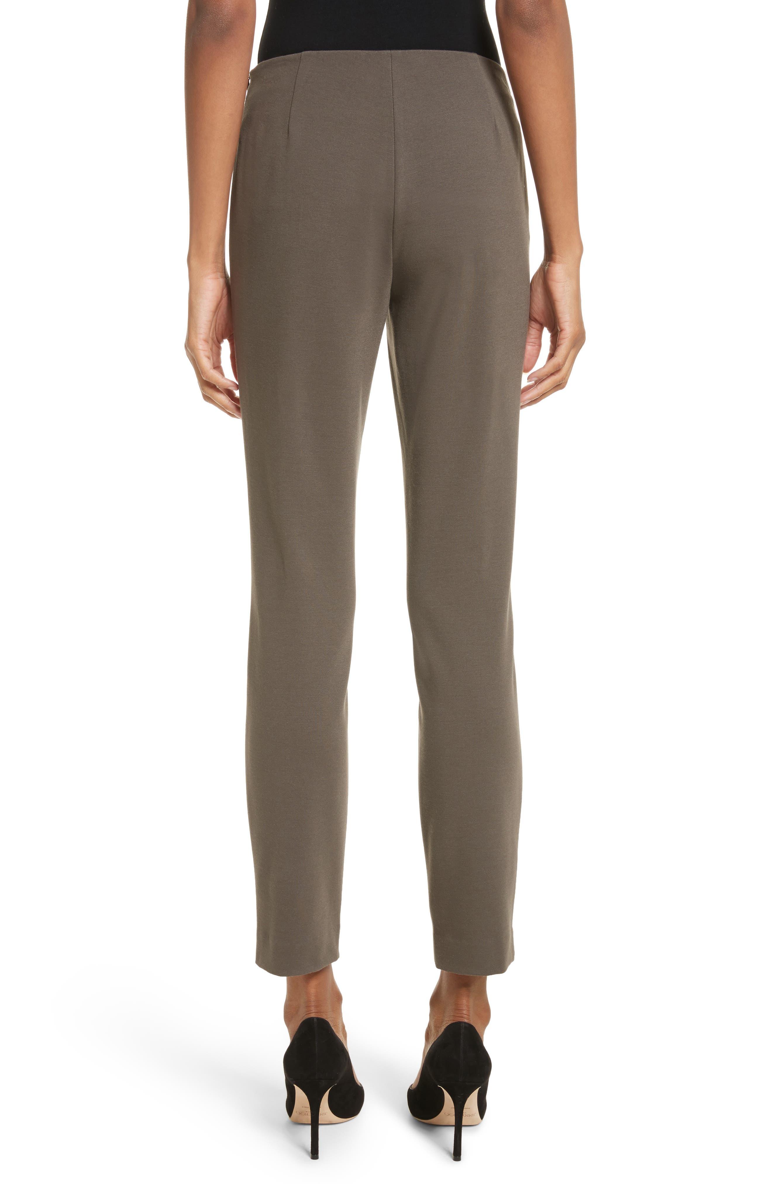 Heyward Punto Milano Slim Pants,                             Alternate thumbnail 3, color,                             Lead
