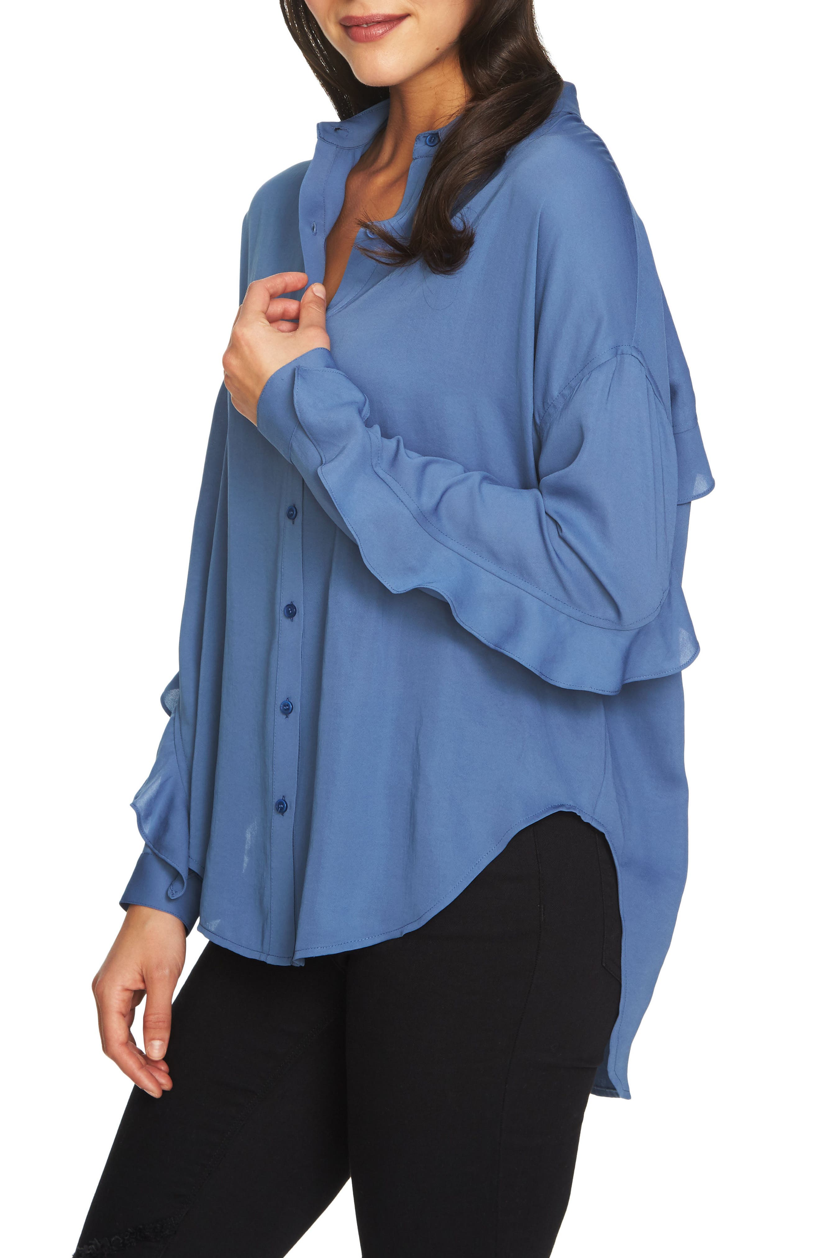 Alternate Image 3  - 1.STATE Ruffle Slit Back Blouse