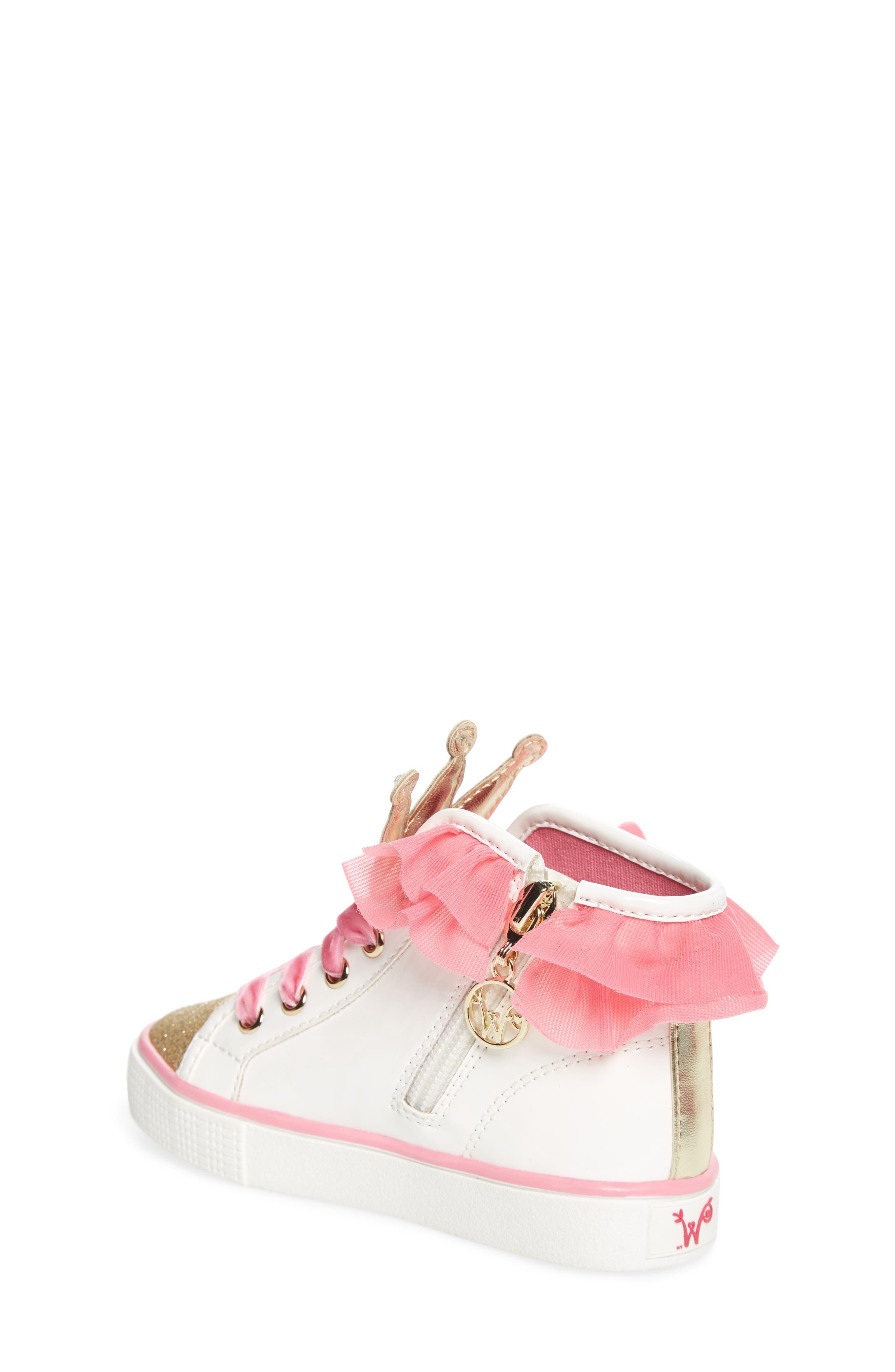 Alternate Image 2  - WellieWishers from American Girl Ashlyn Crown High Top Sneaker (Walker, Toddler, Little Kid & Big Kid)