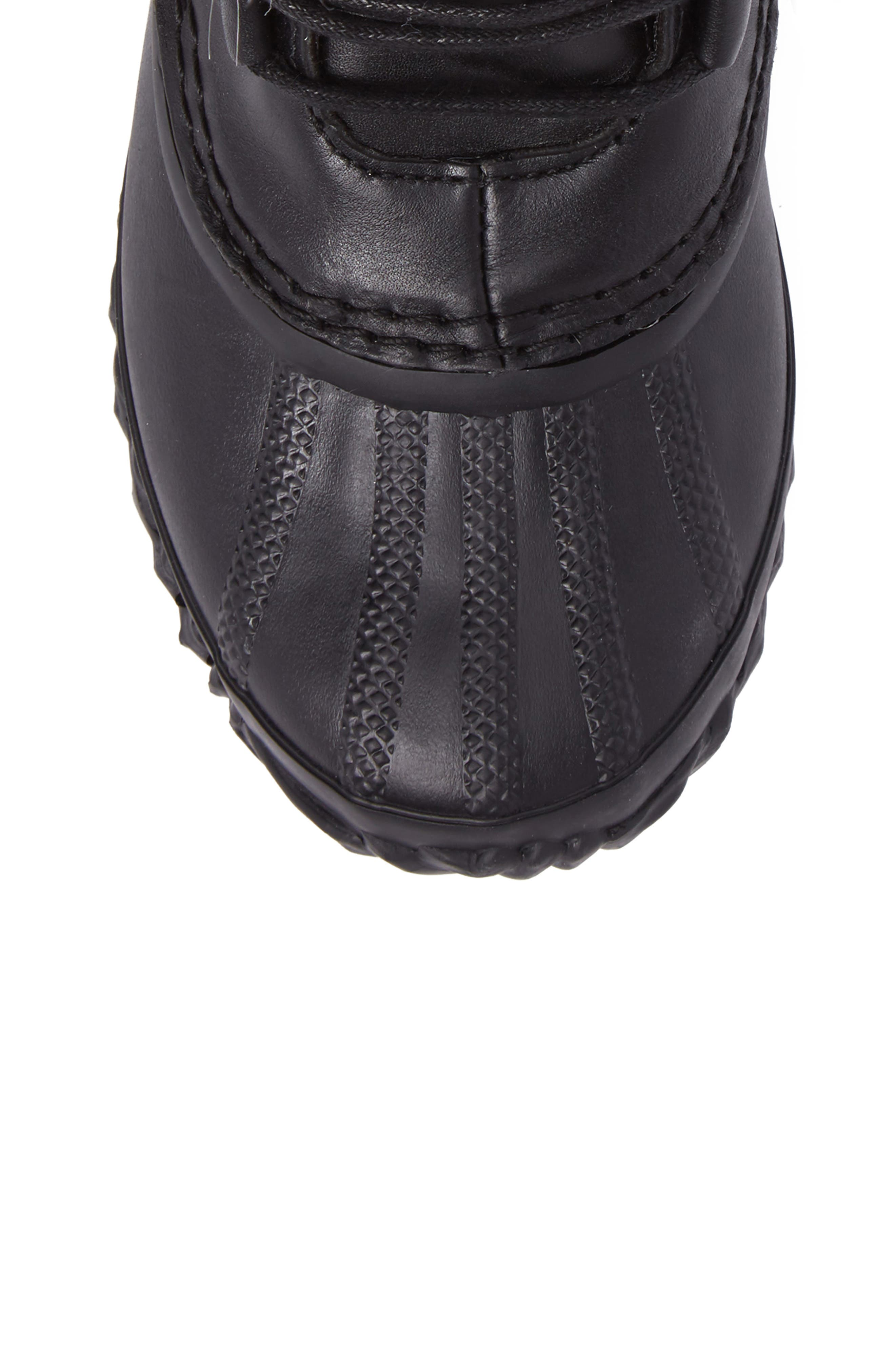 Out 'N About Waterproof Luxe Bootie,                             Alternate thumbnail 5, color,                             Black/ Sea Salt
