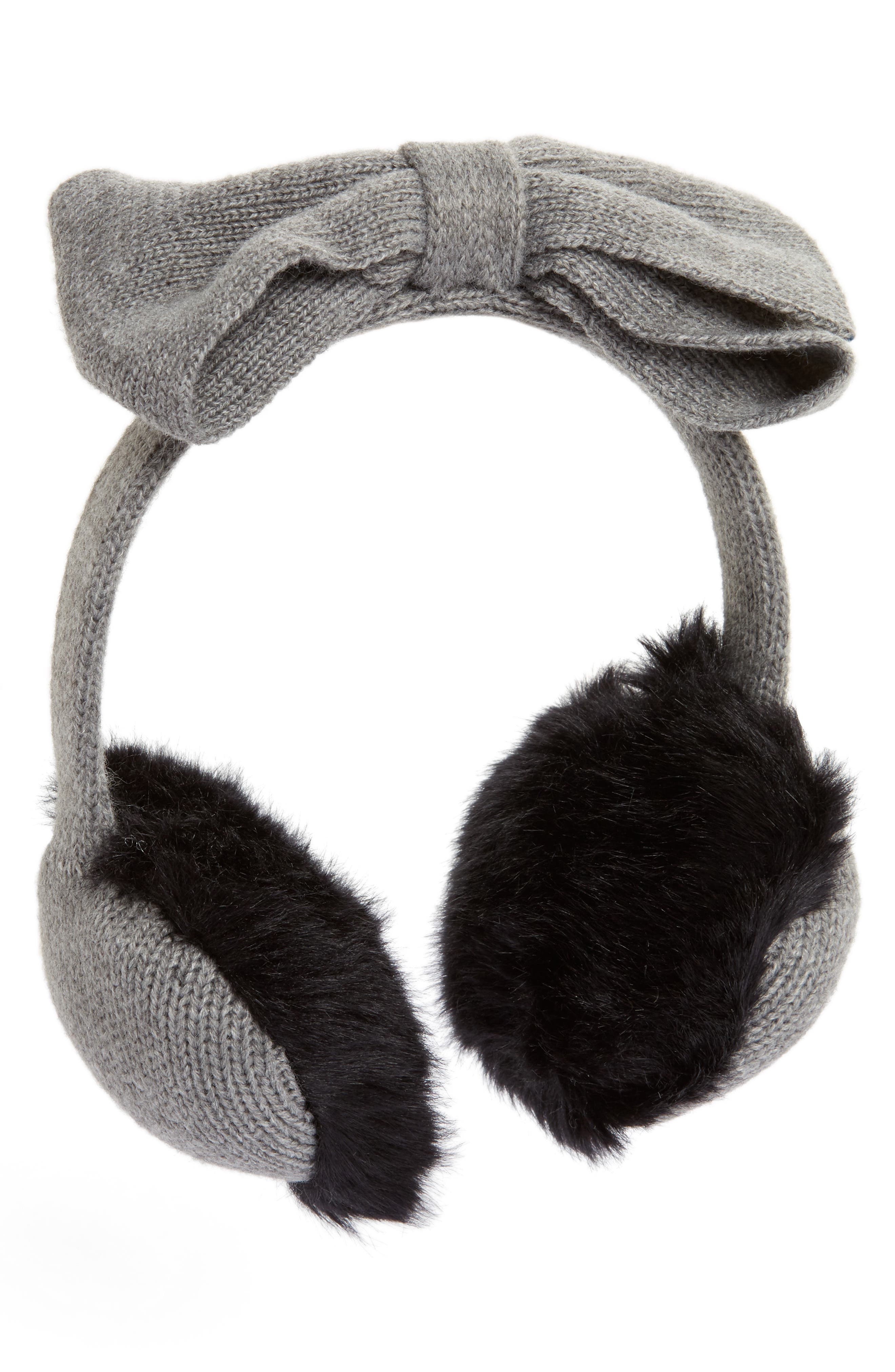 kate spade new york half bow faux fur earmuffs
