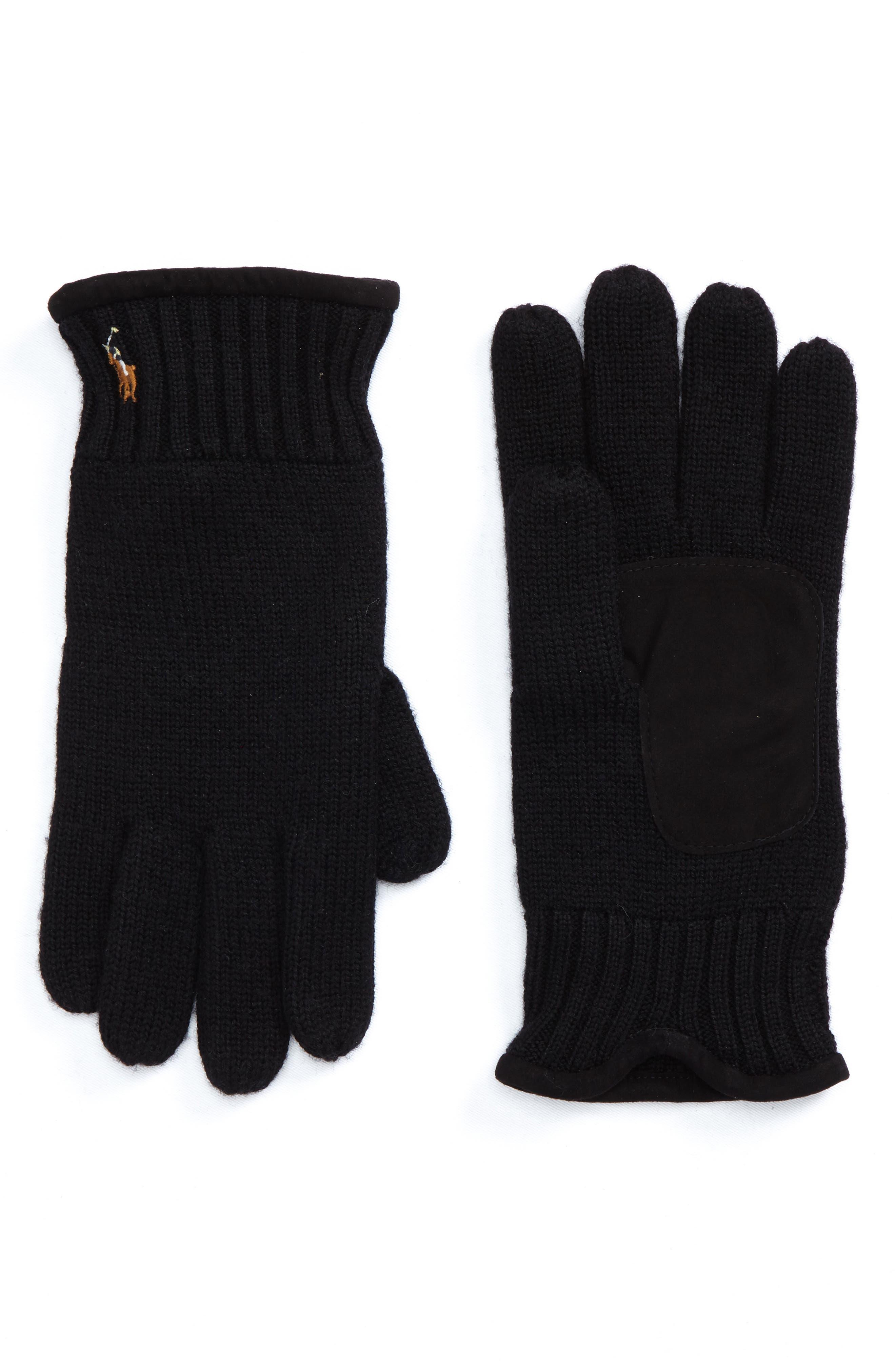 Main Image - Polo Ralph Lauren Classic Luxe Merino Wool Gloves
