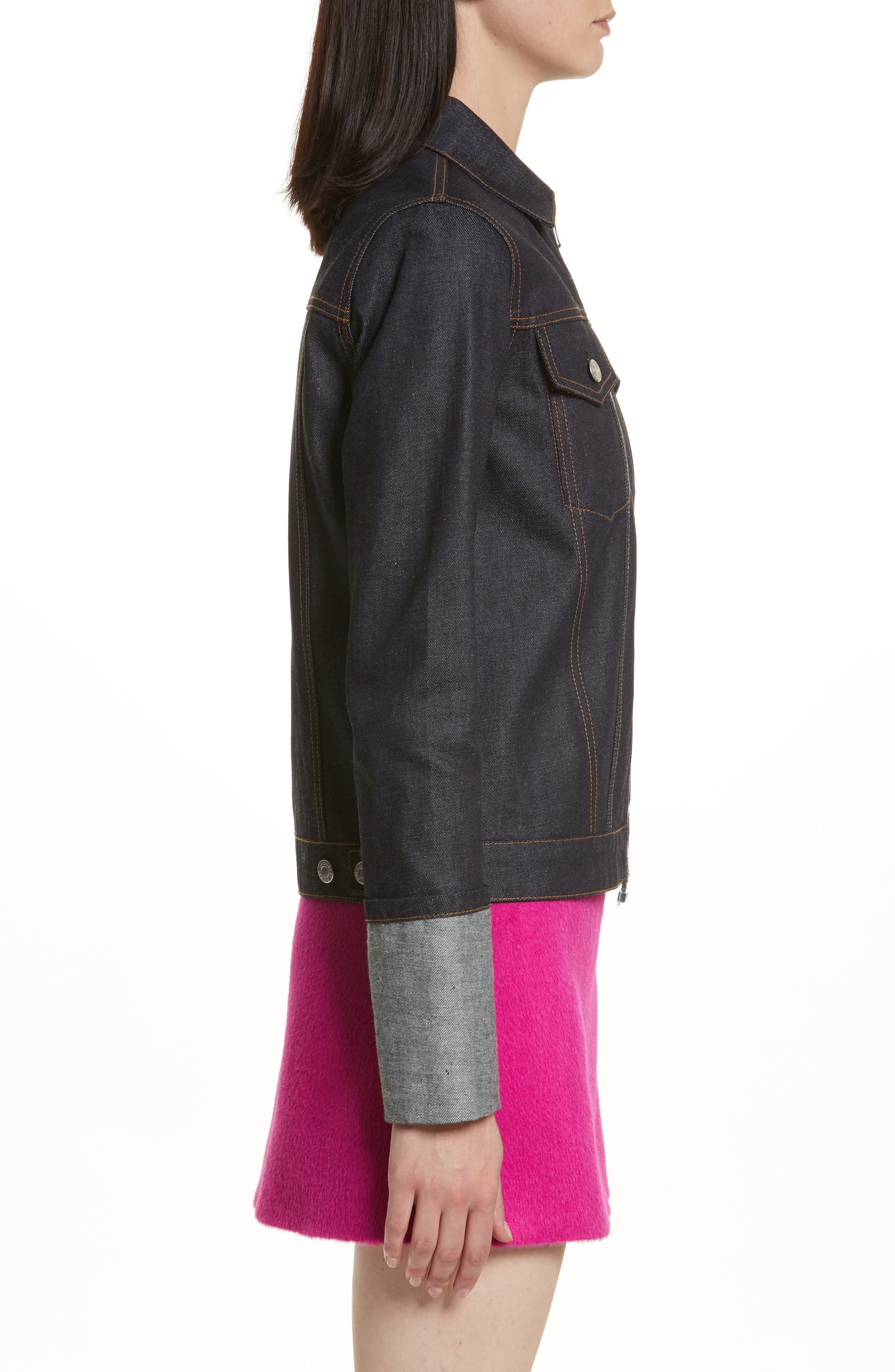 Re-Edition Zip Denim Jacket,                             Alternate thumbnail 5, color,                             Indigo