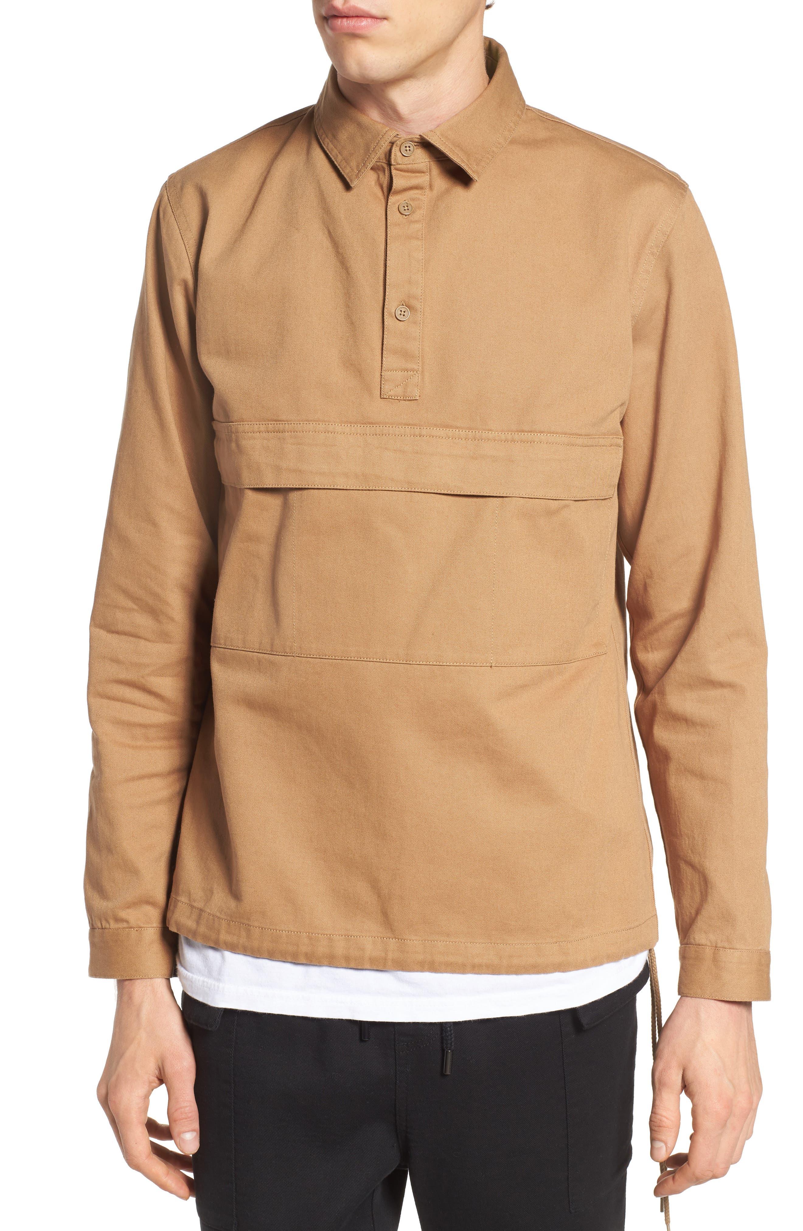 Woodside Twill Shirt,                             Main thumbnail 1, color,                             Sand