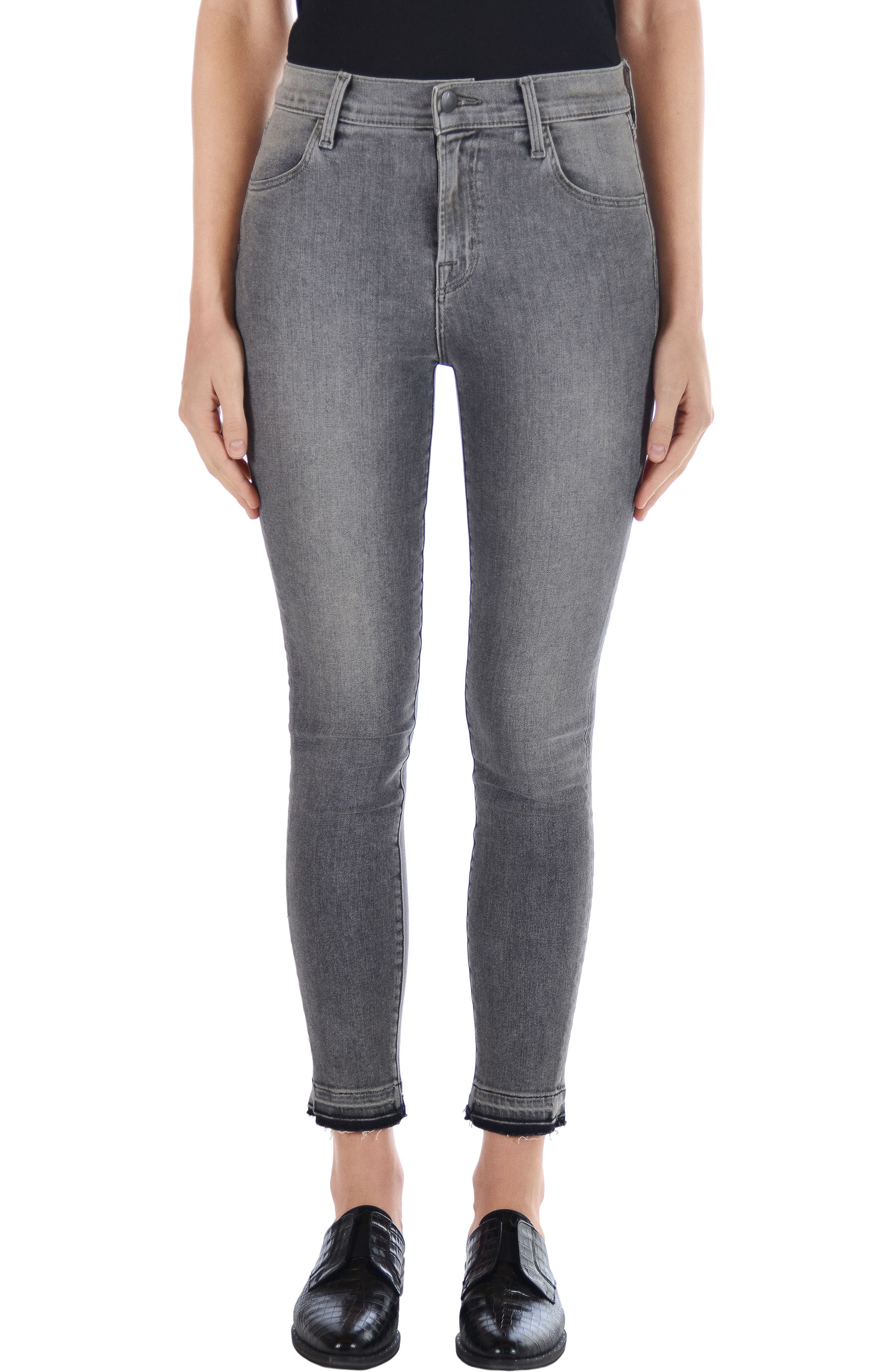 J Brand Alana High Waist Ankle Skinny Jeans (Earl Grey)