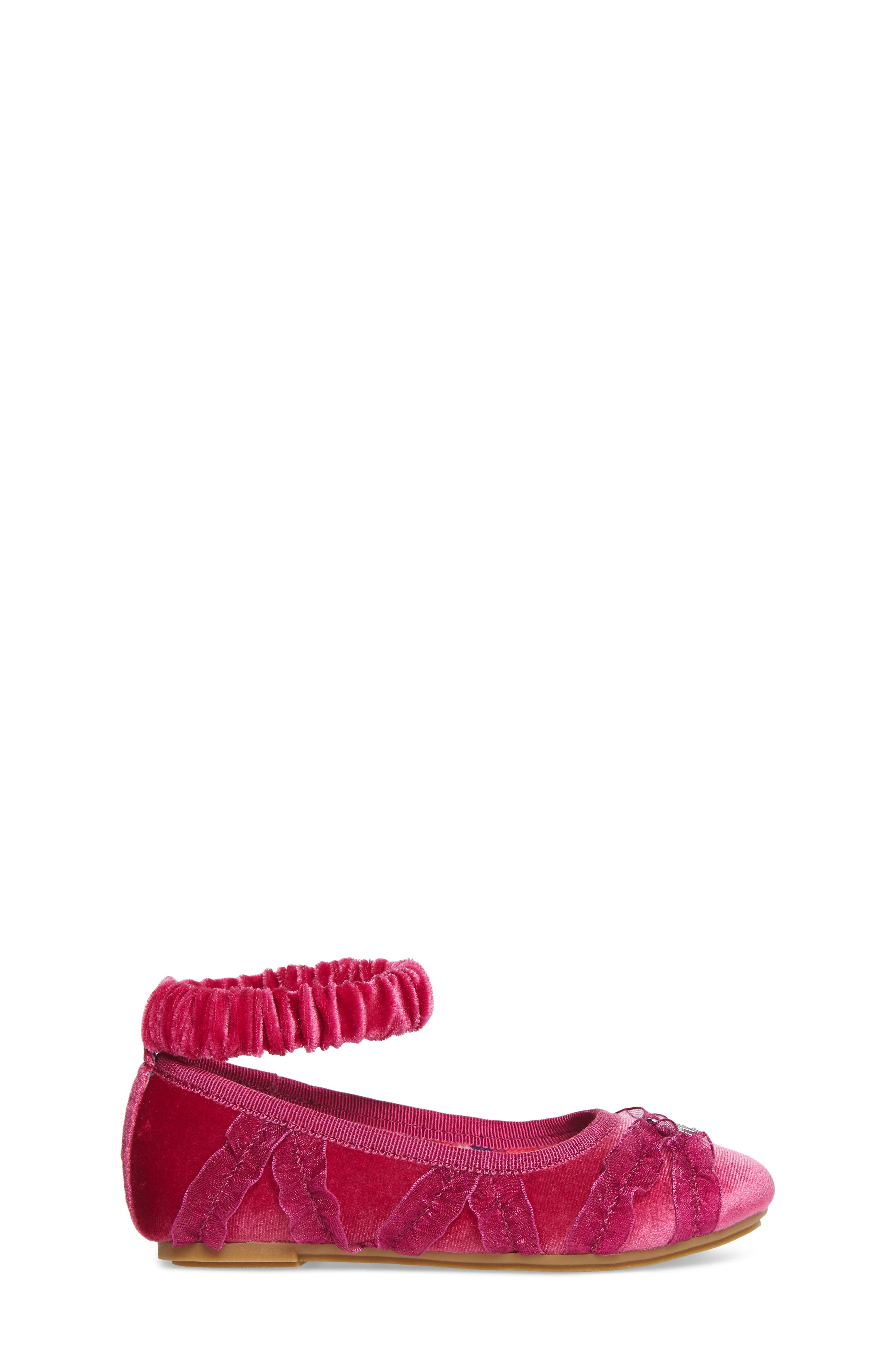 Emerson Ankle Strap Ballet Flat,                             Alternate thumbnail 3, color,                             Pink Multi