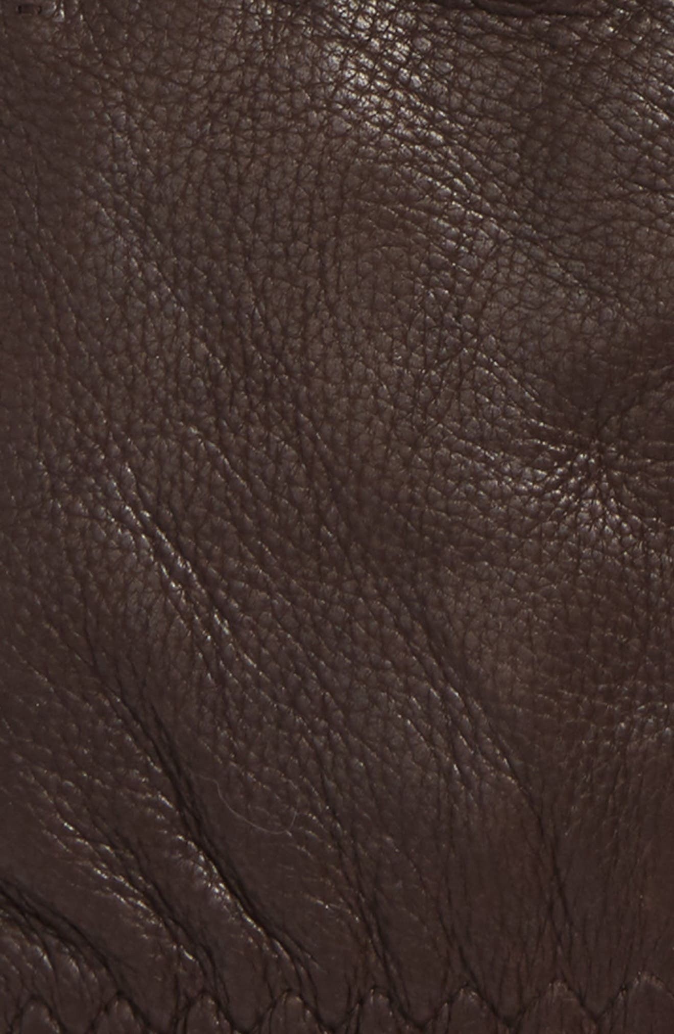 Deerskin Leather Gloves,                             Alternate thumbnail 2, color,                             Chocolate