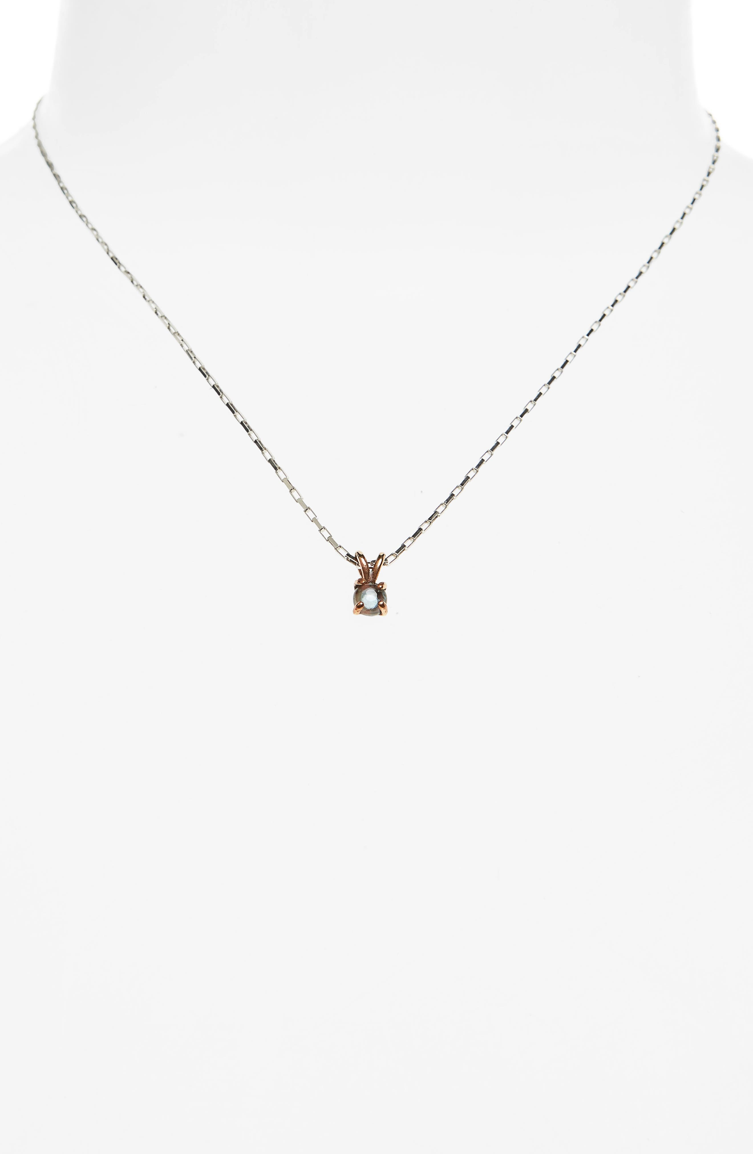 Alternate Image 2  - Madewell Blue Topaz Pendant Necklace