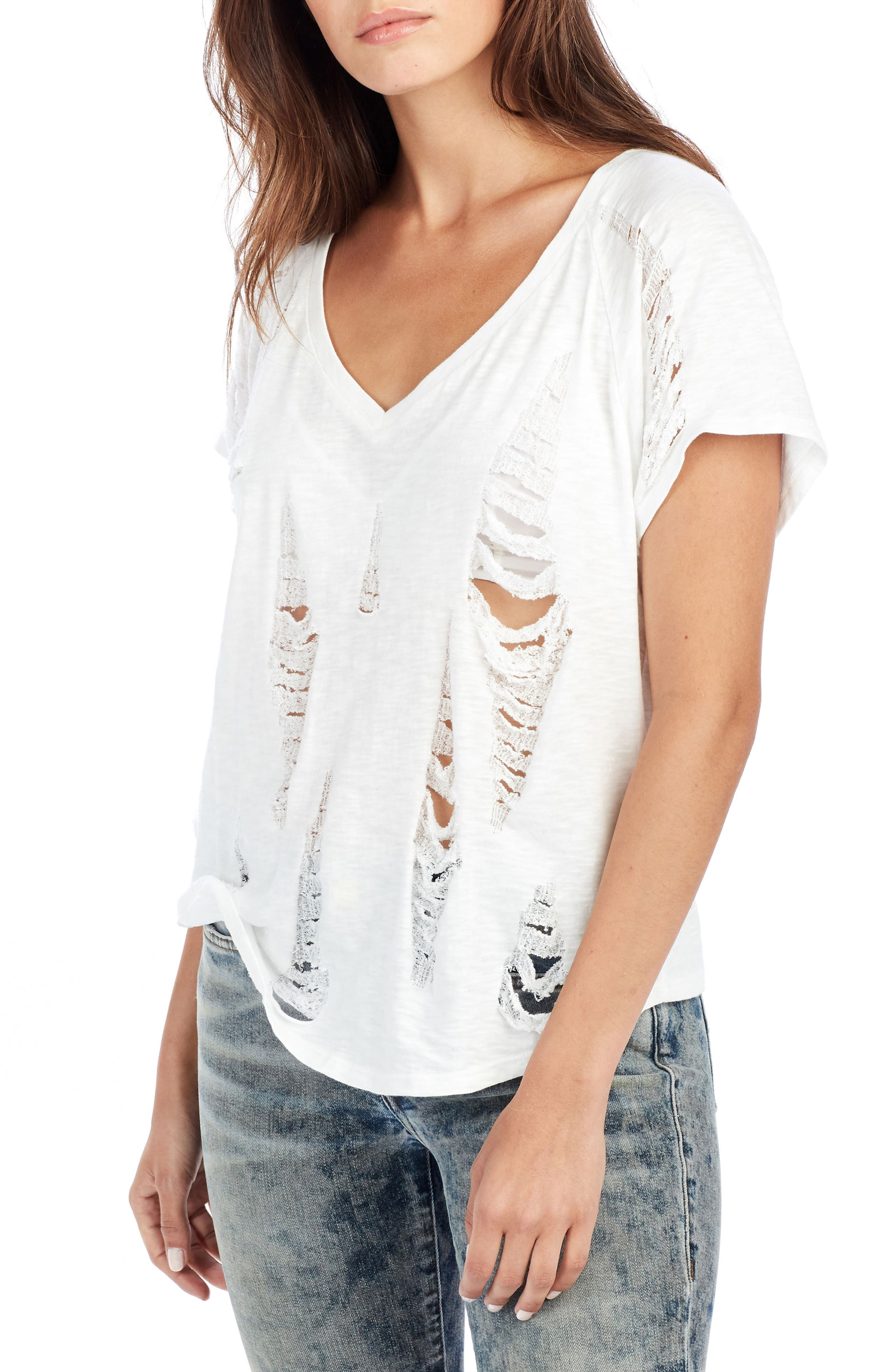 Destroyed Tee,                         Main,                         color, White