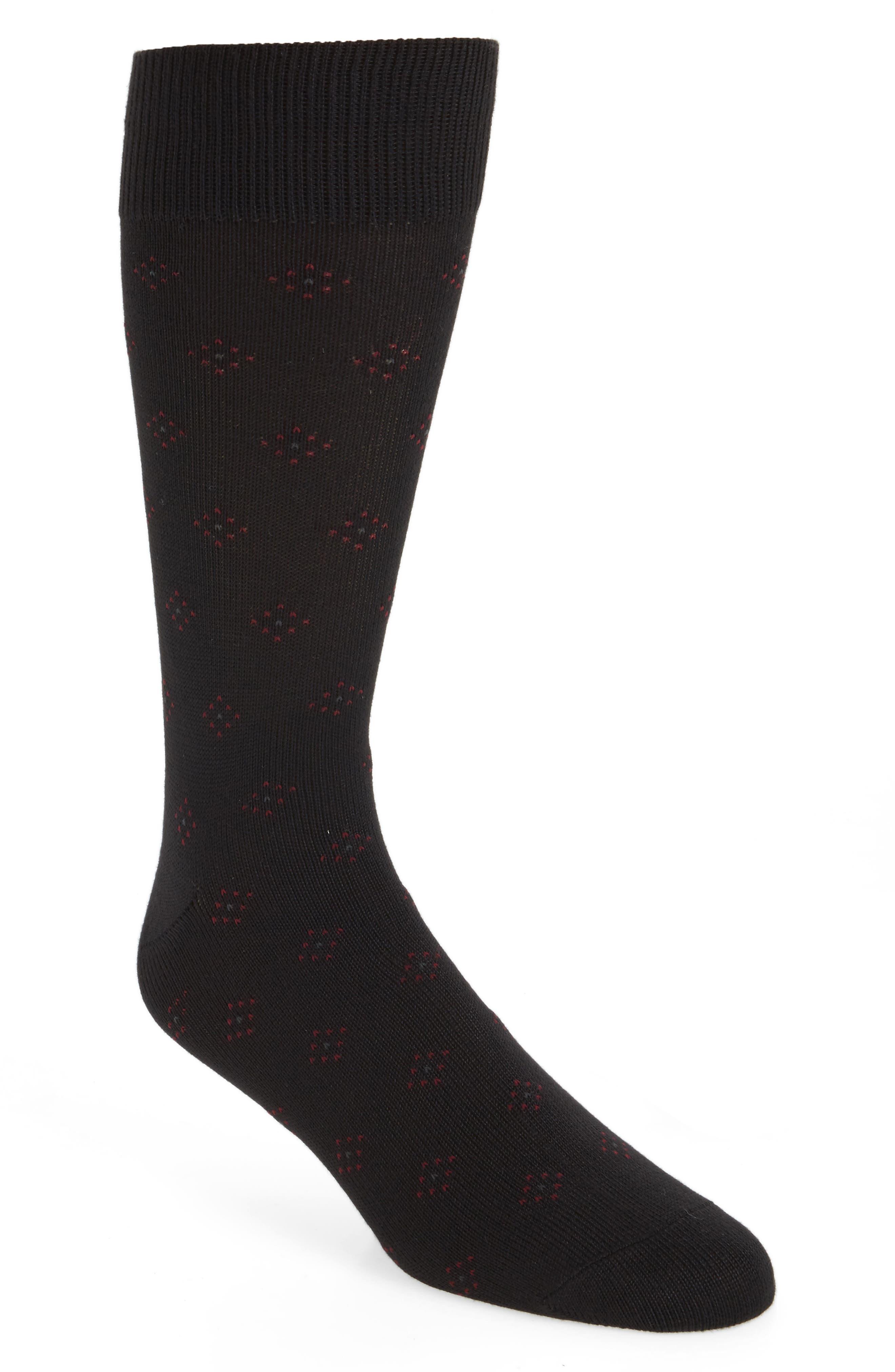 Ultra Soft Neat Socks,                             Main thumbnail 1, color,                             Black