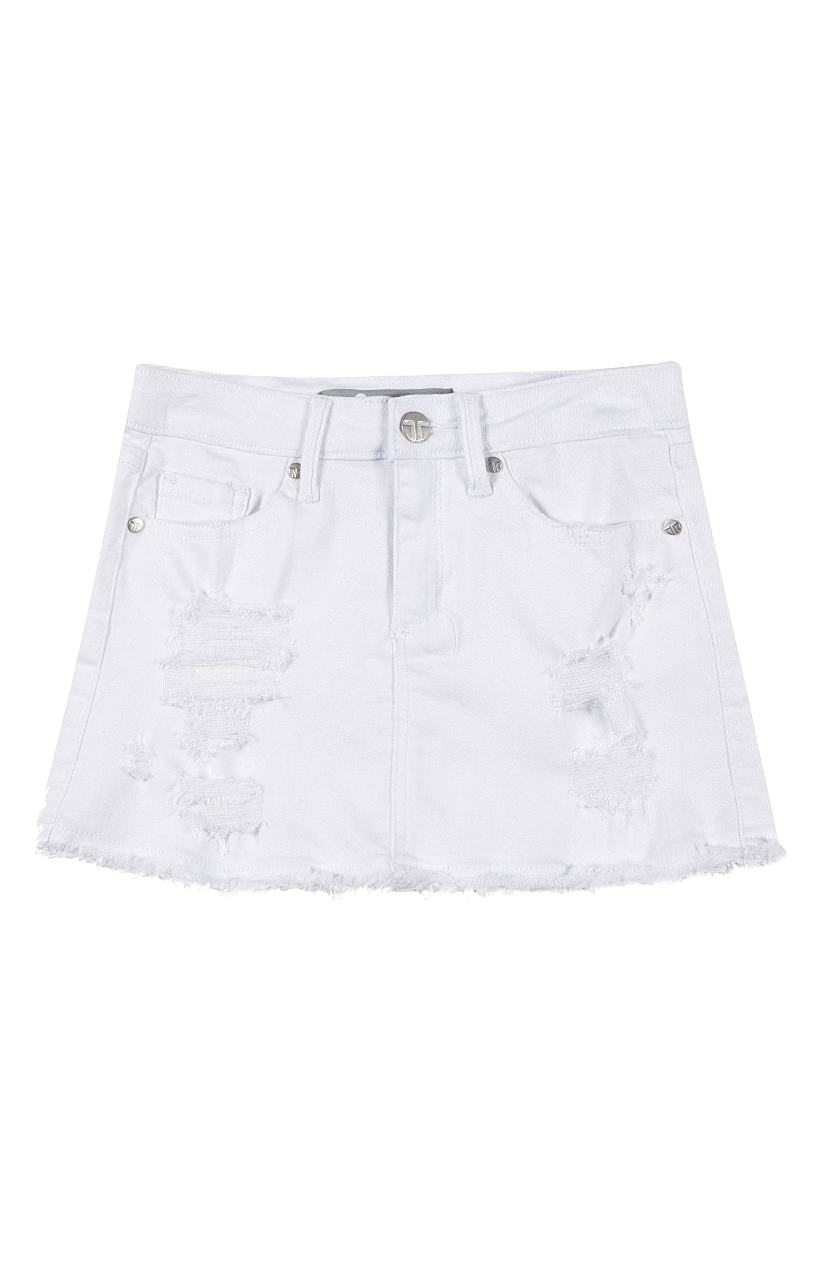 Tractr Distressed Denim Skirt (Big Girls)