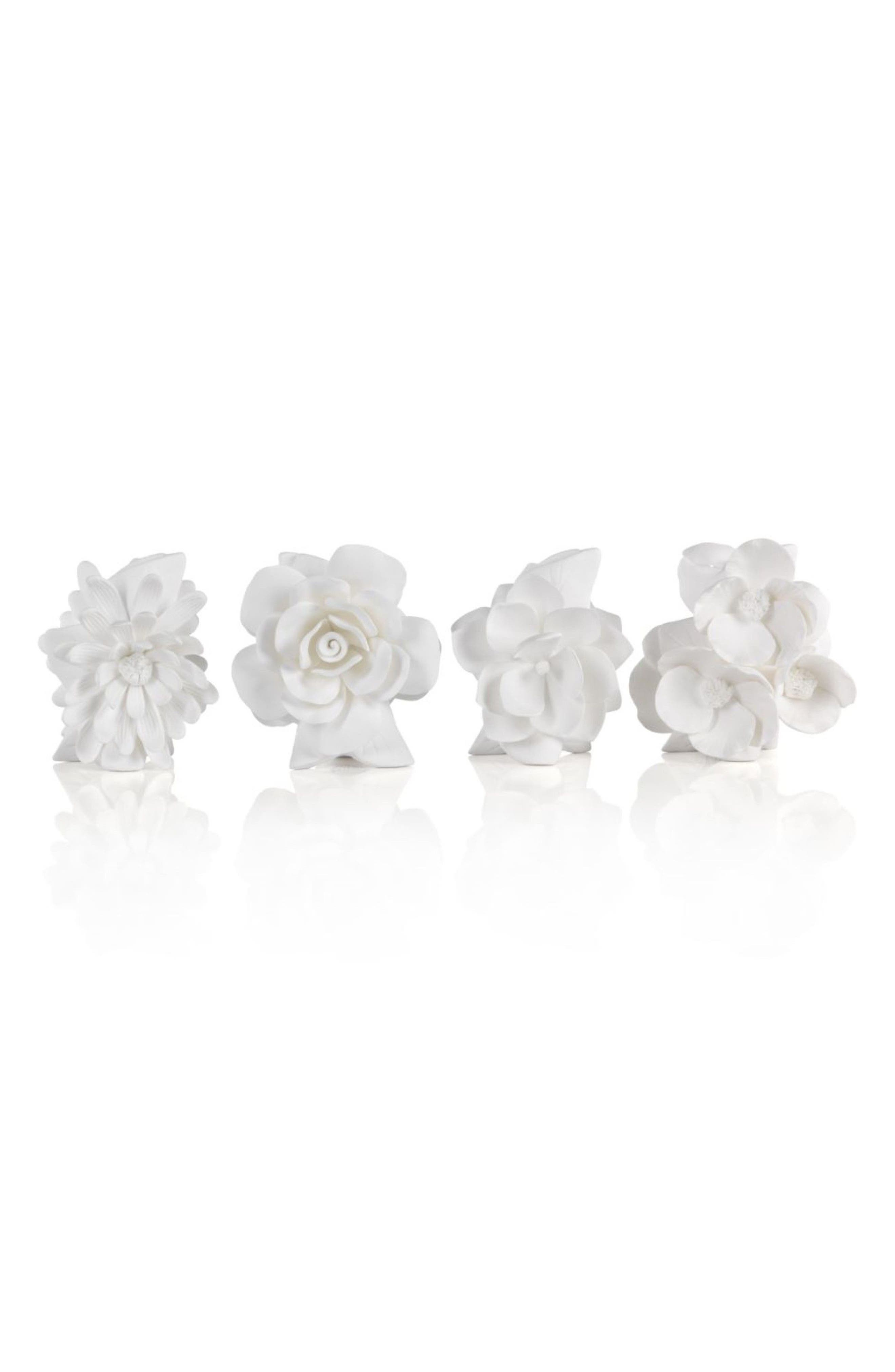 Cameo Set of 4 Porcelain Vases,                         Main,                         color, White